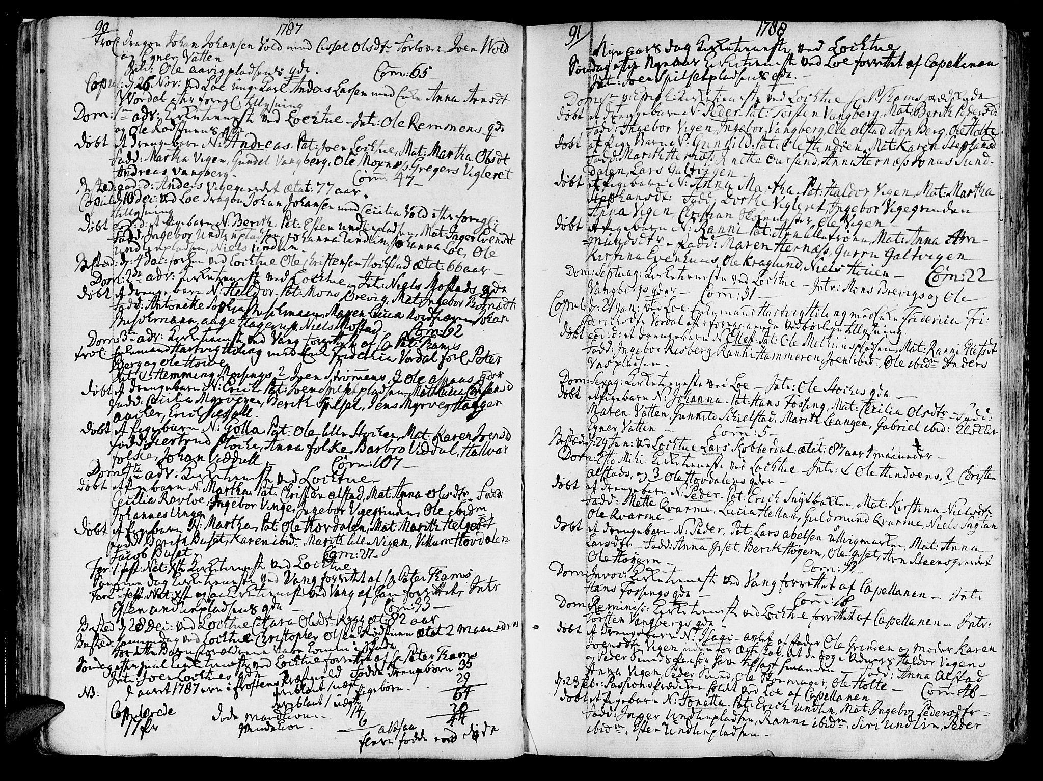 SAT, Ministerialprotokoller, klokkerbøker og fødselsregistre - Nord-Trøndelag, 713/L0110: Ministerialbok nr. 713A02, 1778-1811, s. 90-91