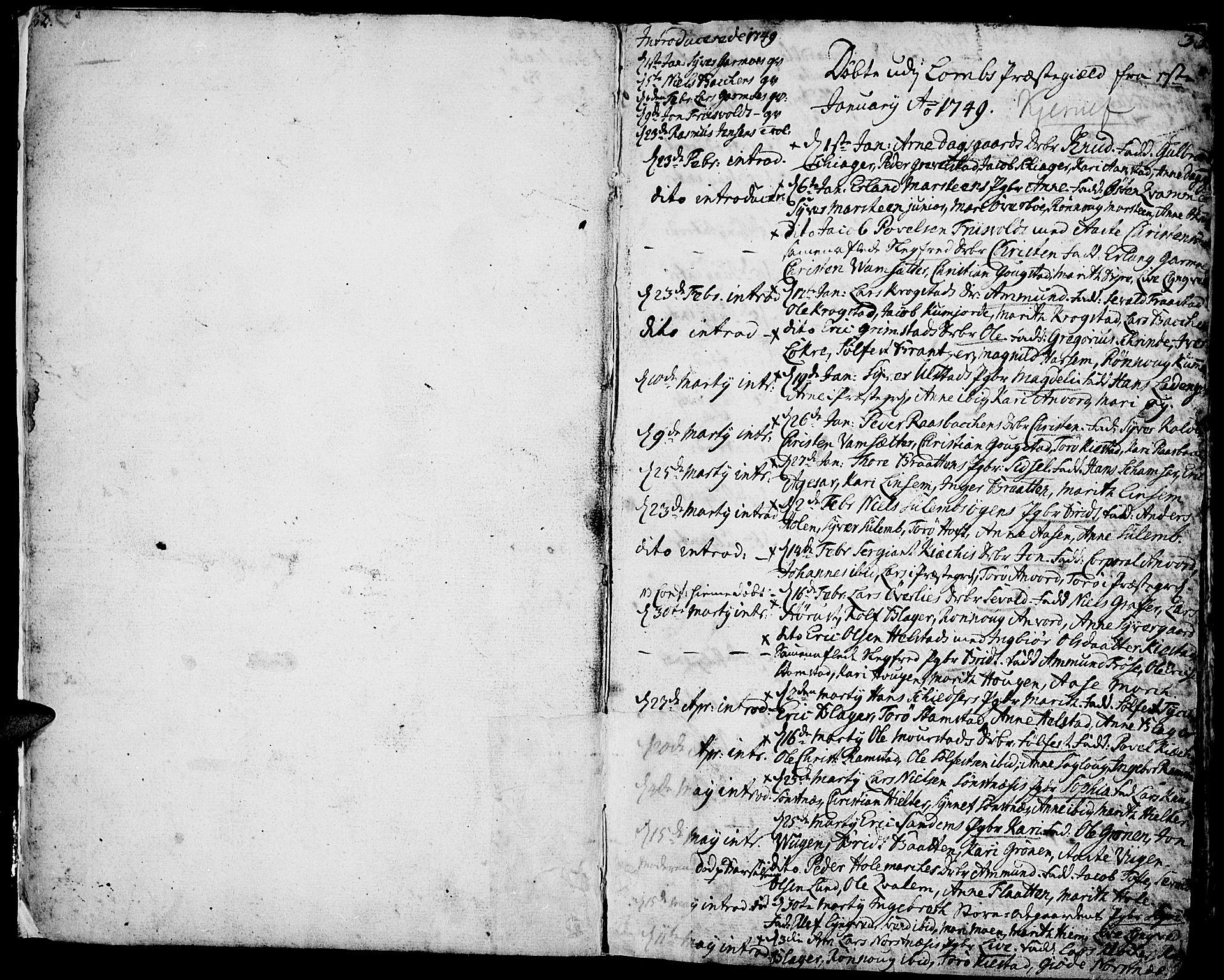 SAH, Lom prestekontor, K/L0002: Ministerialbok nr. 2, 1749-1801, s. 32-33