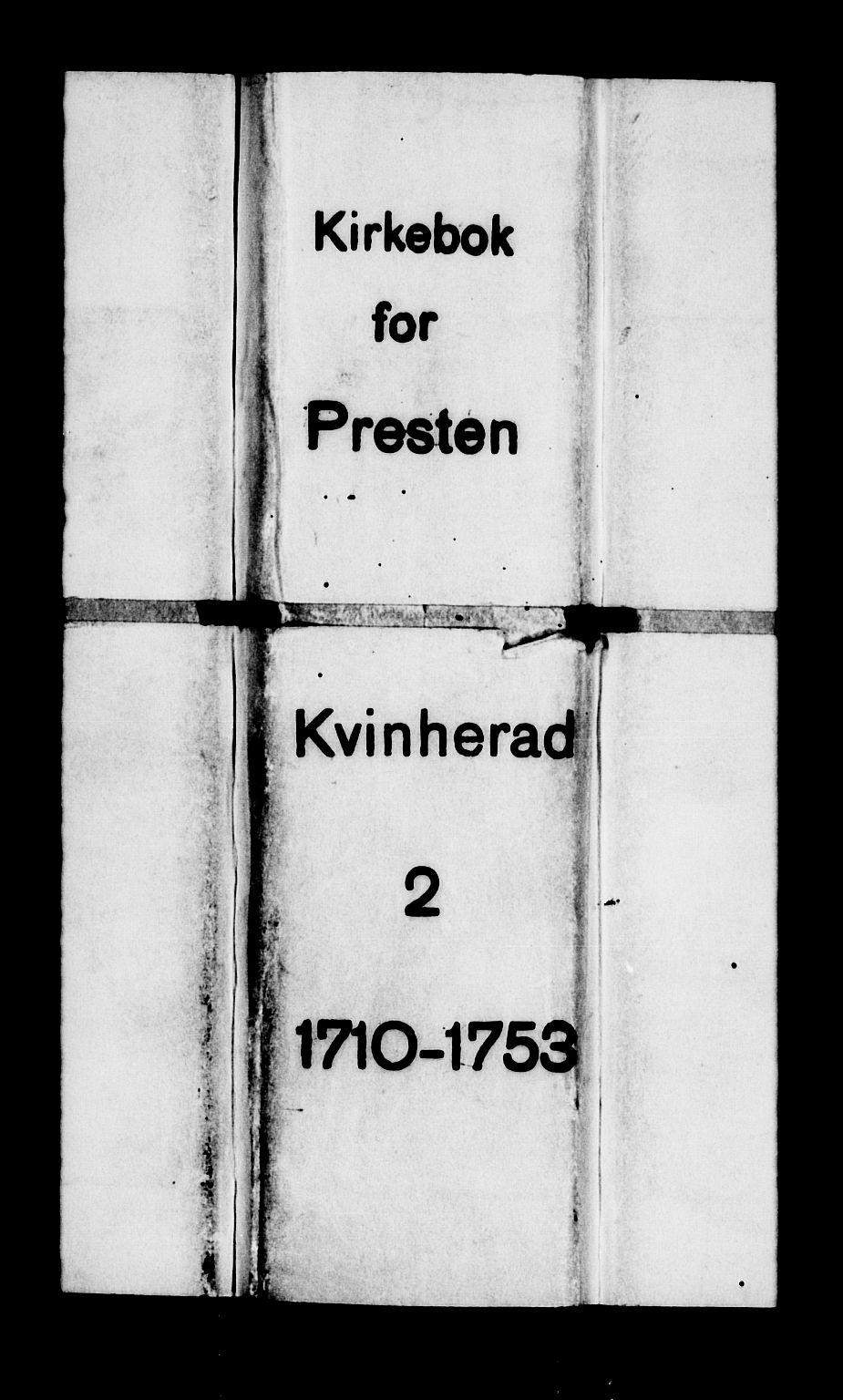 SAB, Kvinnherad Sokneprestembete, H/Haa: Ministerialbok nr. A 2, 1710-1753