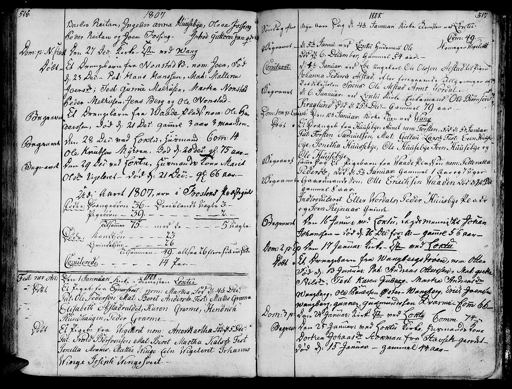 SAT, Ministerialprotokoller, klokkerbøker og fødselsregistre - Nord-Trøndelag, 713/L0110: Ministerialbok nr. 713A02, 1778-1811, s. 516-517
