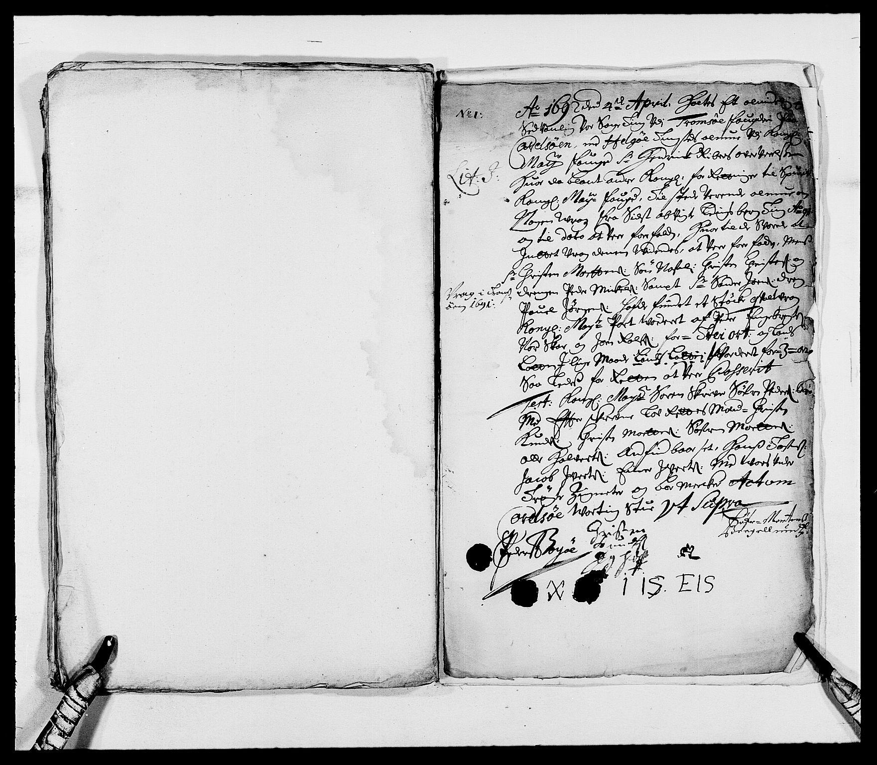 RA, Rentekammeret inntil 1814, Reviderte regnskaper, Fogderegnskap, R68/L4751: Fogderegnskap Senja og Troms, 1690-1693, s. 128