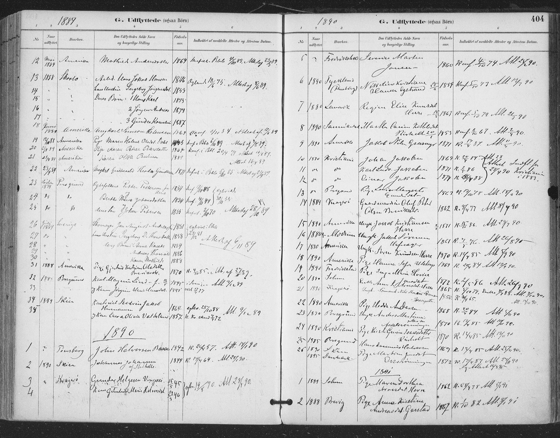 SAKO, Bamble kirkebøker, F/Fa/L0008: Ministerialbok nr. I 8, 1888-1900, s. 404