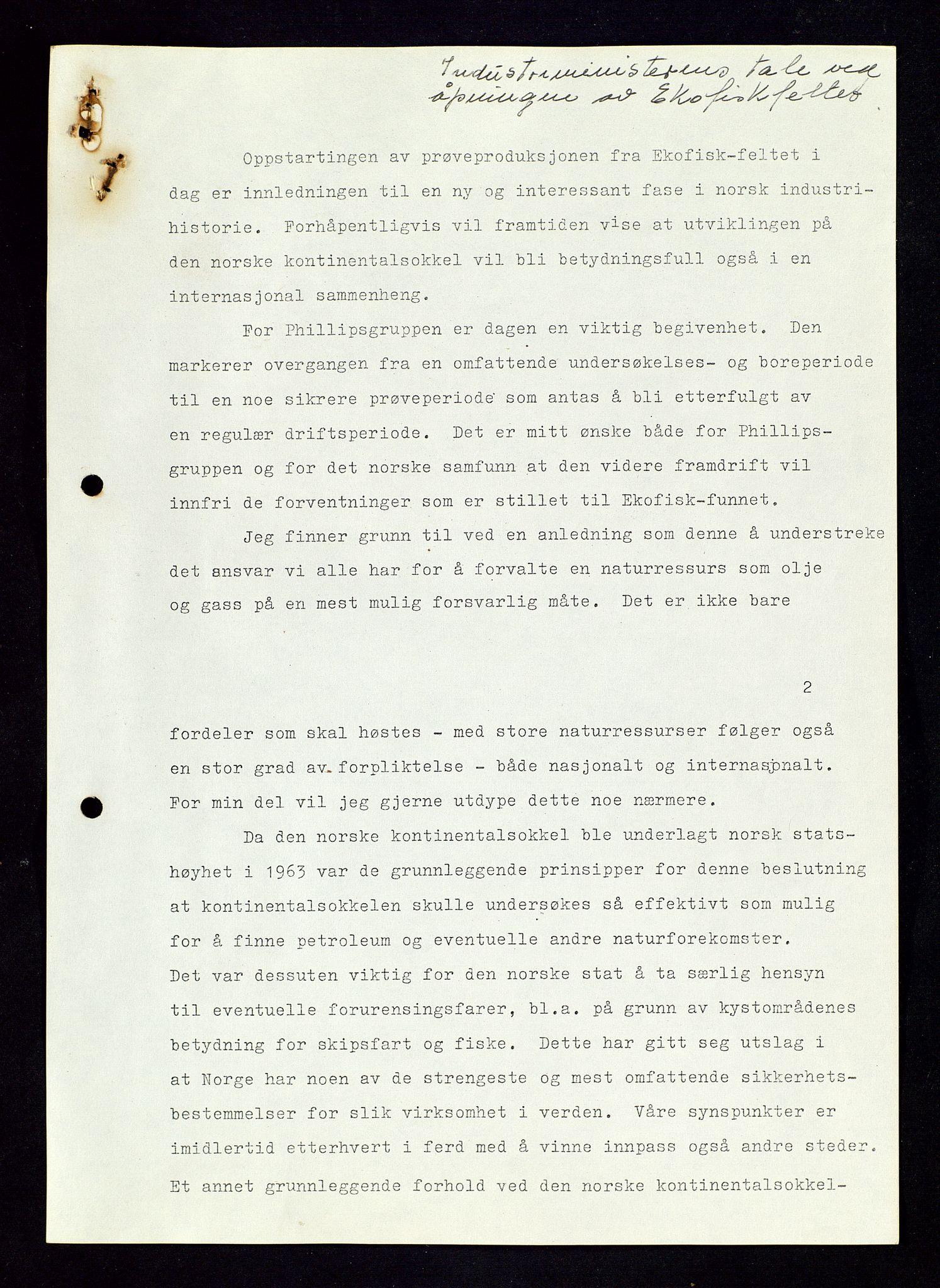 SAST, Industridepartementet, Oljekontoret, Dc/L0011: 740 - 742 Ekofisk prosjekt, prosjektstudier, generelt, 1970-1972