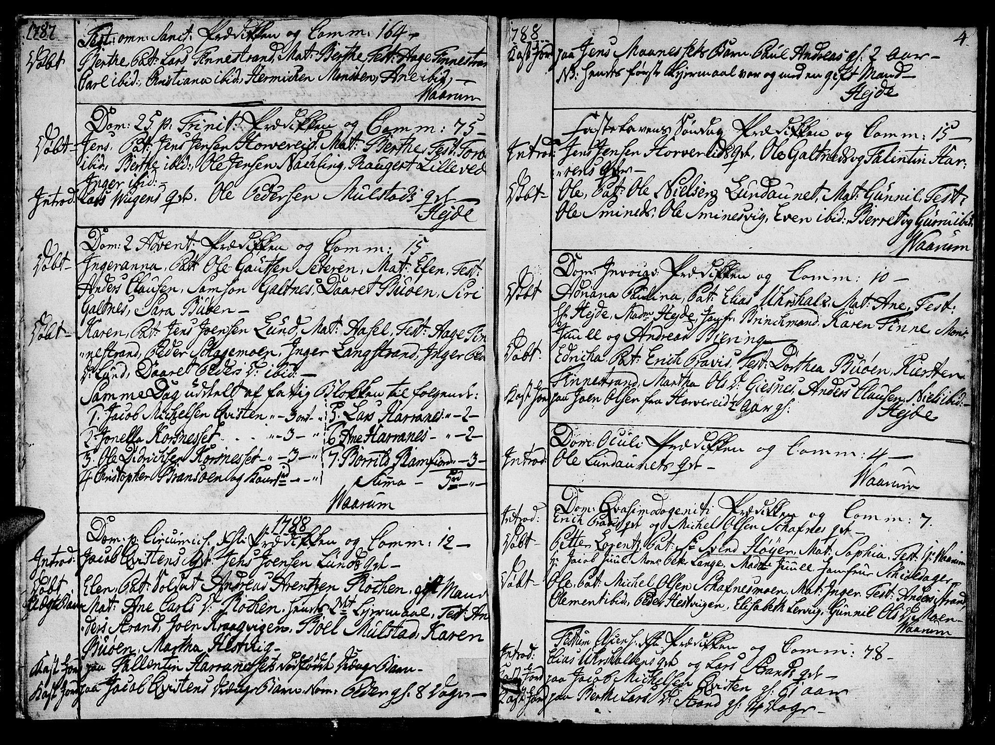 SAT, Ministerialprotokoller, klokkerbøker og fødselsregistre - Nord-Trøndelag, 780/L0633: Ministerialbok nr. 780A02 /1, 1787-1814, s. 4