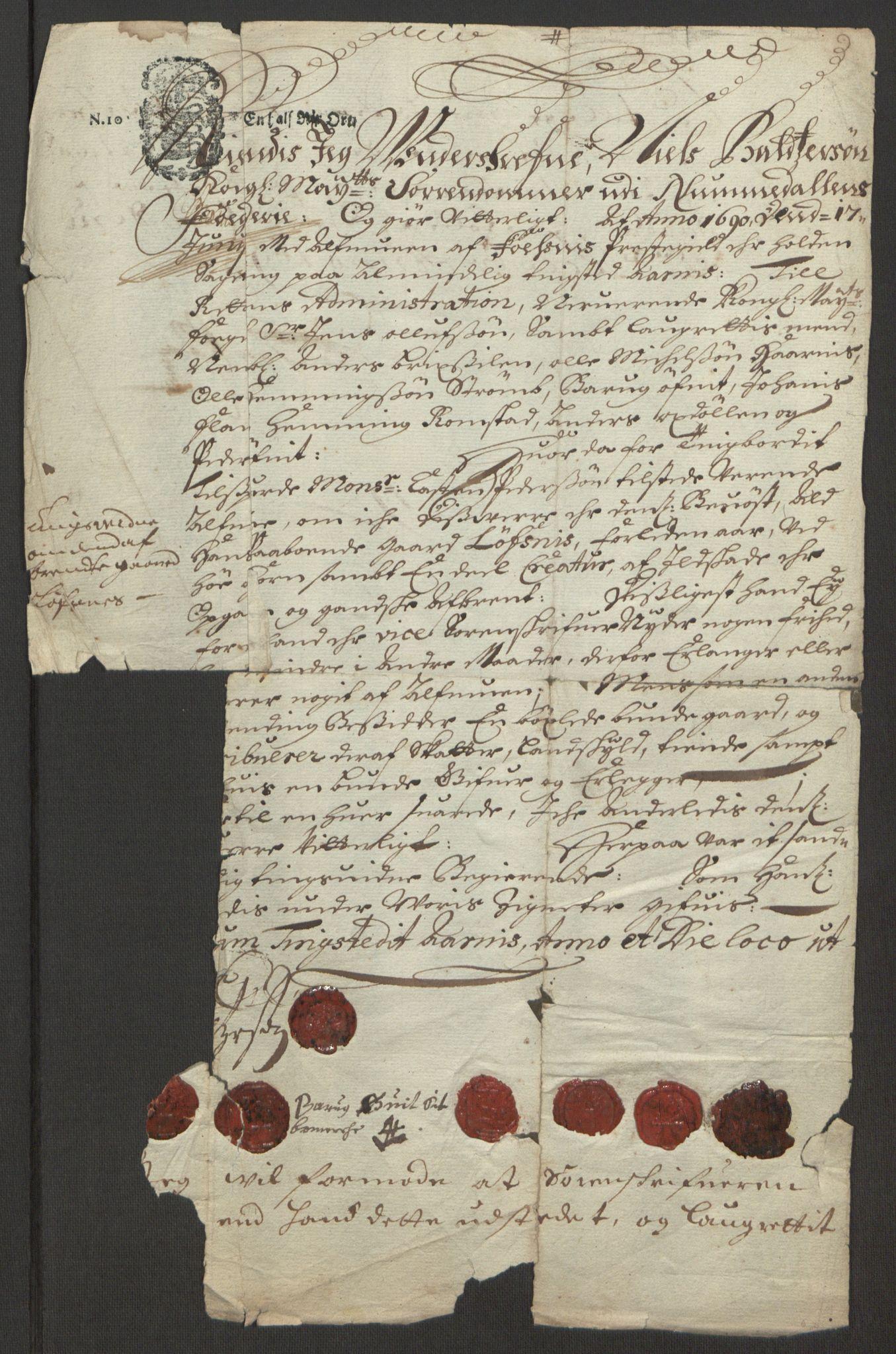 RA, Rentekammeret inntil 1814, Reviderte regnskaper, Fogderegnskap, R64/L4423: Fogderegnskap Namdal, 1690-1691, s. 374