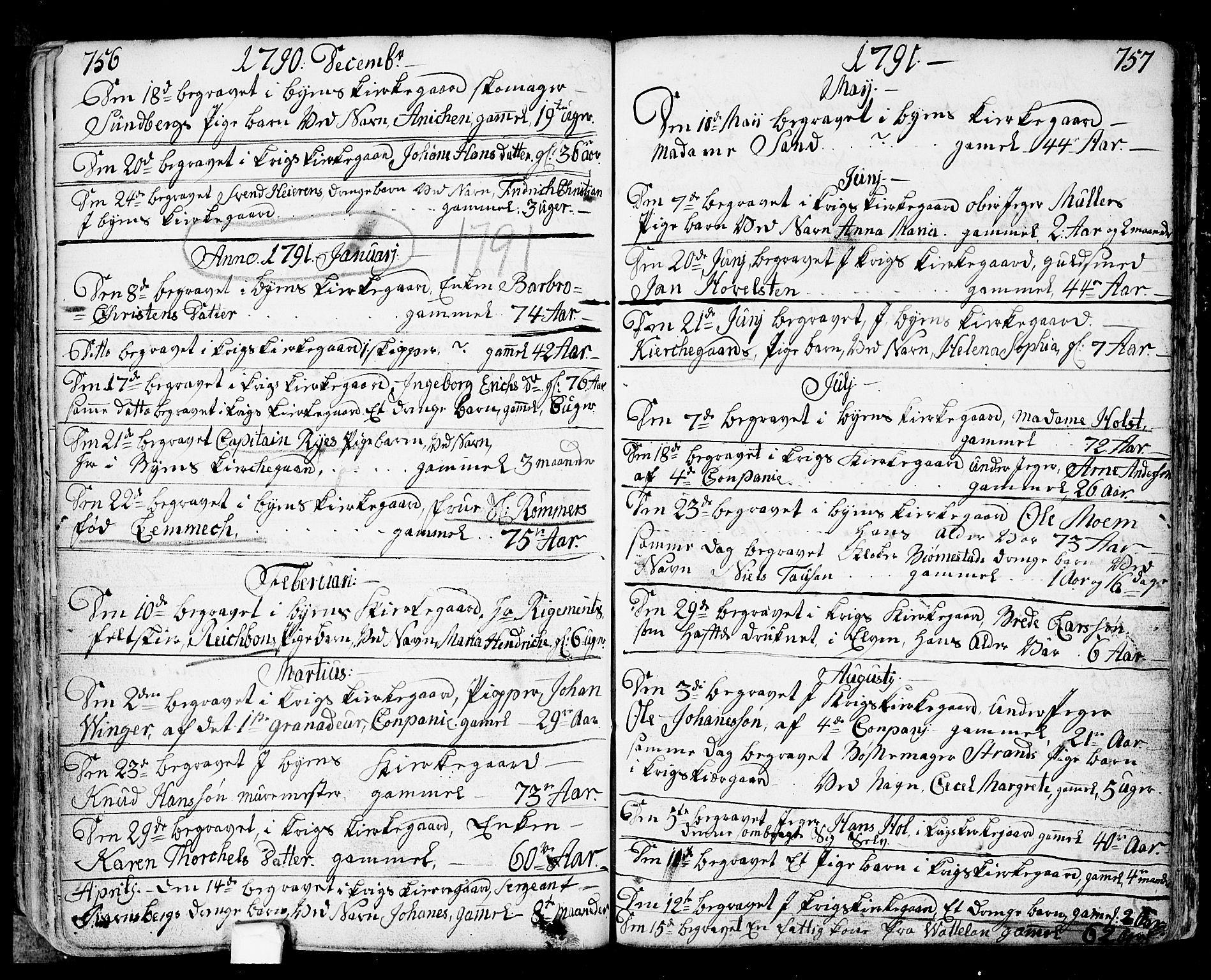 SAO, Fredrikstad prestekontor Kirkebøker, F/Fa/L0002: Ministerialbok nr. 2, 1750-1804, s. 756-757
