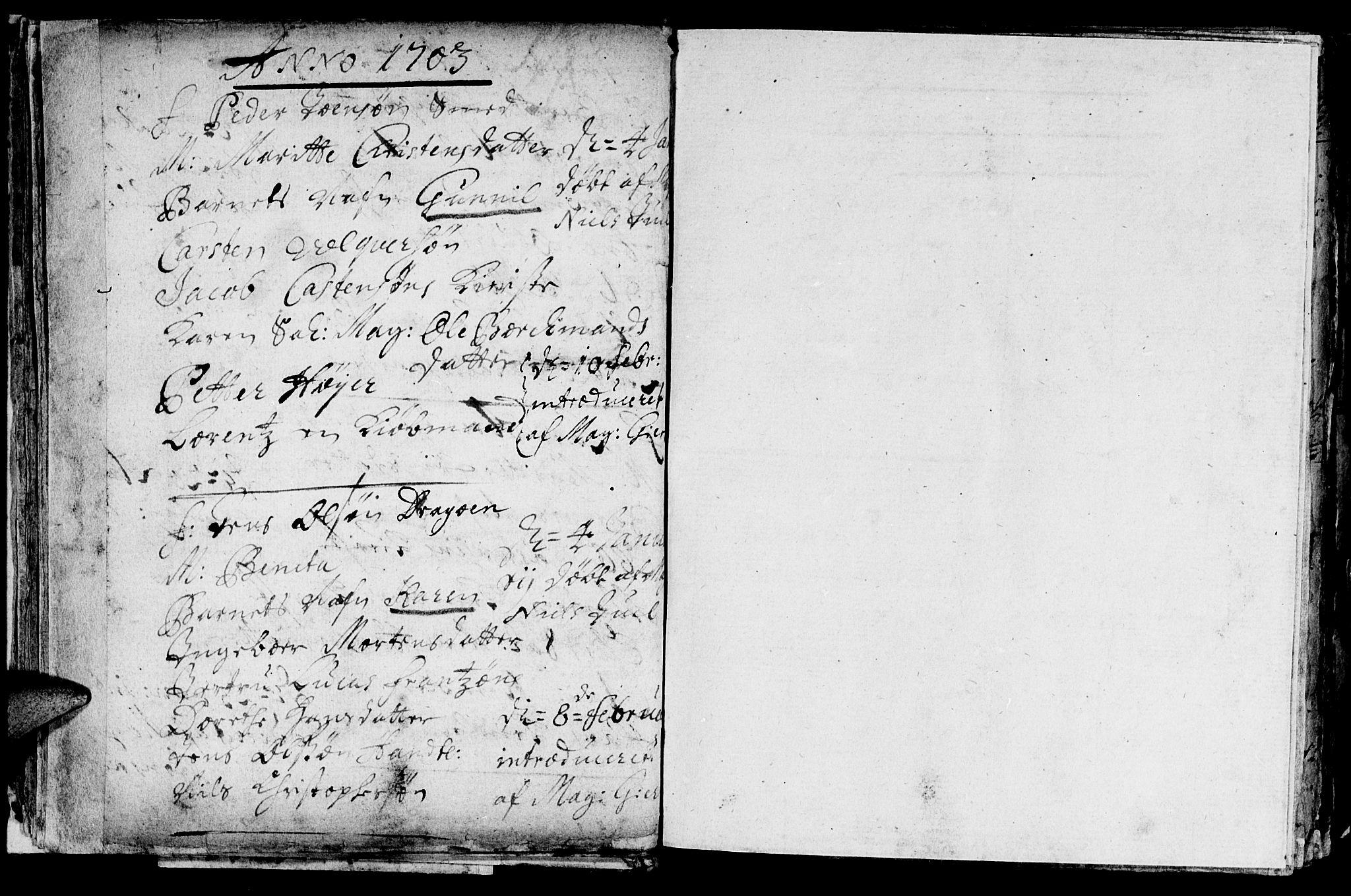 SAT, Ministerialprotokoller, klokkerbøker og fødselsregistre - Sør-Trøndelag, 601/L0034: Ministerialbok nr. 601A02, 1702-1714, s. 17b