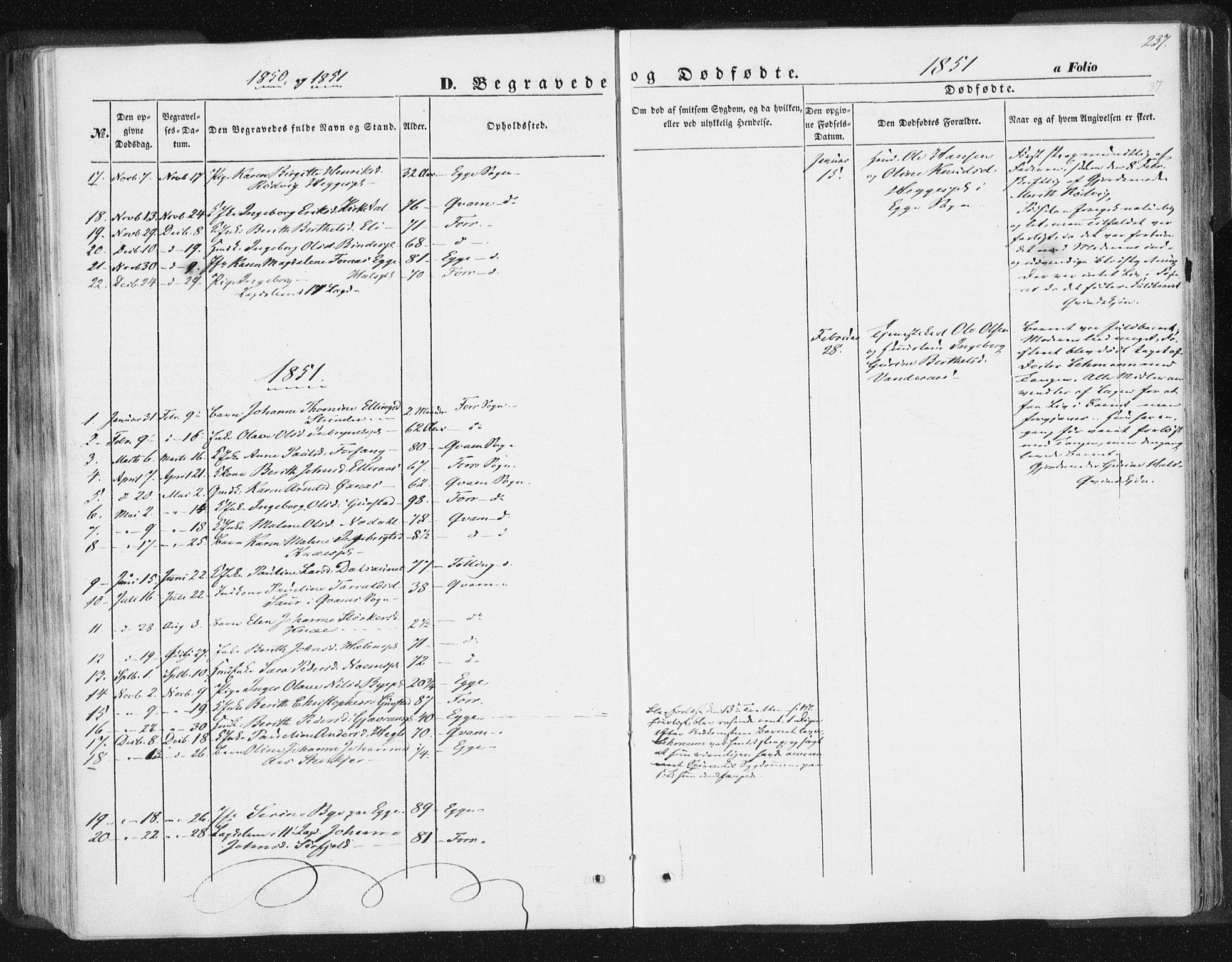 SAT, Ministerialprotokoller, klokkerbøker og fødselsregistre - Nord-Trøndelag, 746/L0446: Ministerialbok nr. 746A05, 1846-1859, s. 237