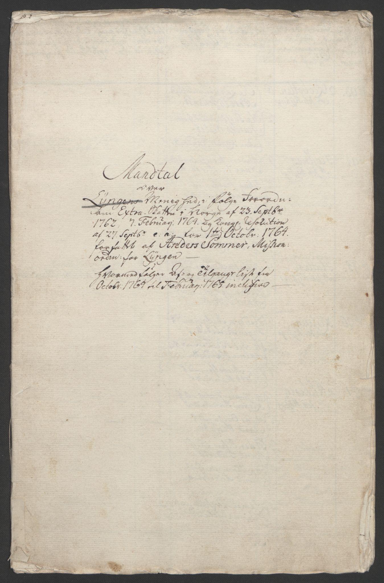 RA, Rentekammeret inntil 1814, Realistisk ordnet avdeling, Ol/L0022b: [Gg 10]: Ekstraskatten, 23.09.1762. Senja og Troms, 1765-1768, s. 102