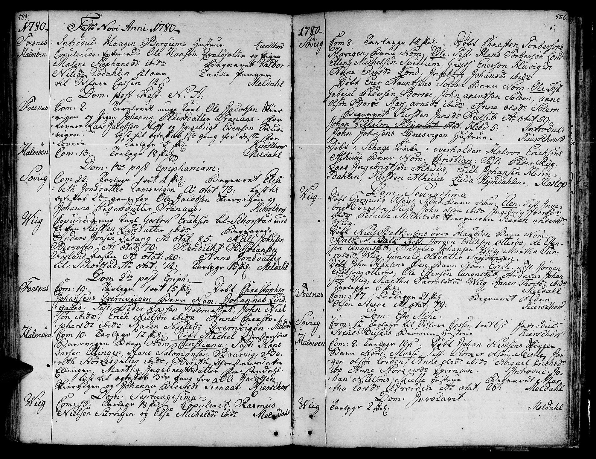 SAT, Ministerialprotokoller, klokkerbøker og fødselsregistre - Nord-Trøndelag, 773/L0607: Ministerialbok nr. 773A01, 1751-1783, s. 504-505