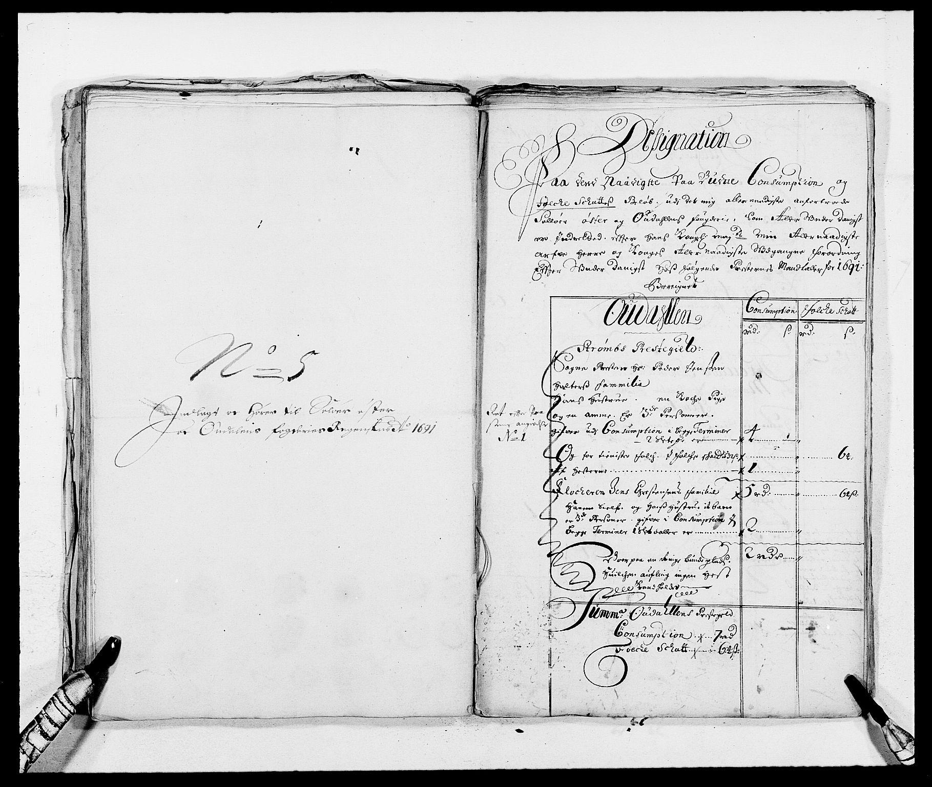 RA, Rentekammeret inntil 1814, Reviderte regnskaper, Fogderegnskap, R13/L0829: Fogderegnskap Solør, Odal og Østerdal, 1691, s. 325