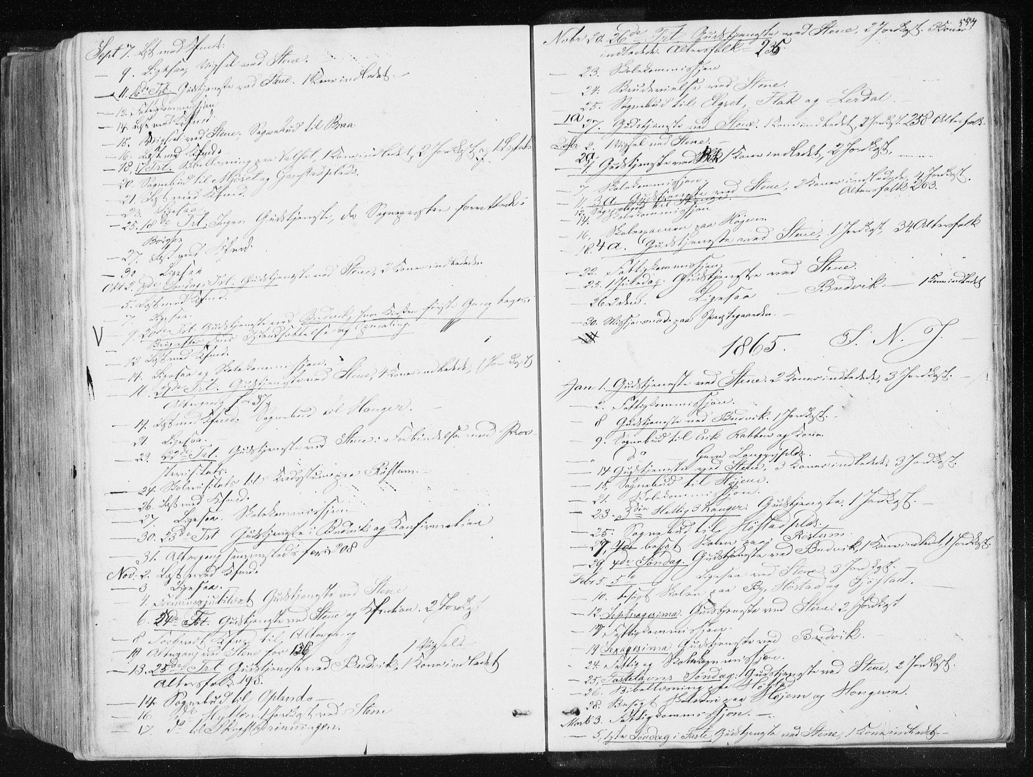 SAT, Ministerialprotokoller, klokkerbøker og fødselsregistre - Sør-Trøndelag, 612/L0377: Ministerialbok nr. 612A09, 1859-1877, s. 554