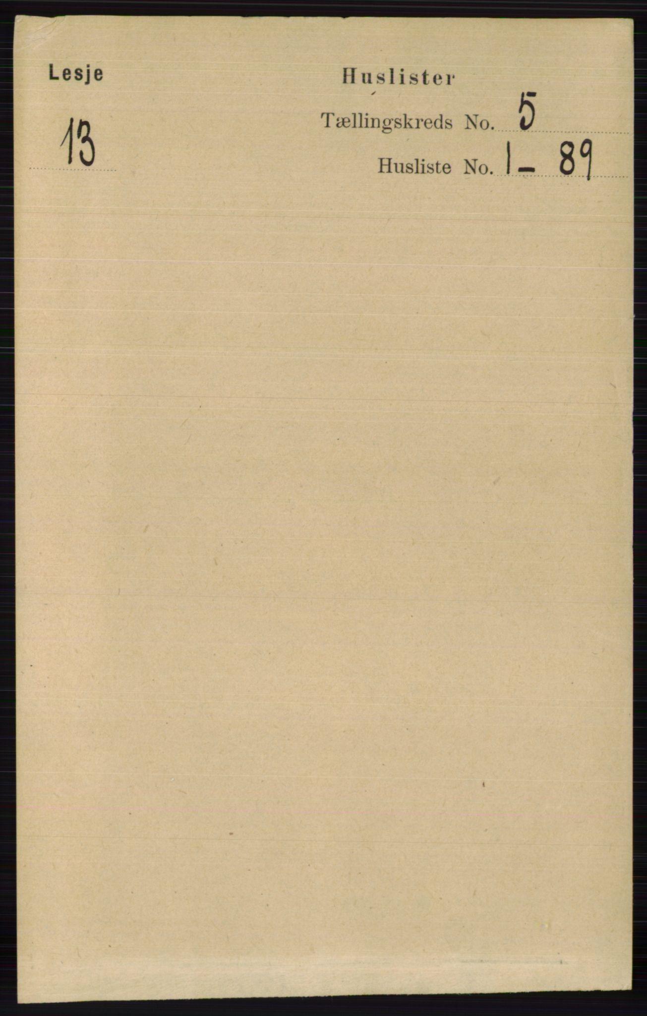 RA, Folketelling 1891 for 0512 Lesja herred, 1891, s. 1588