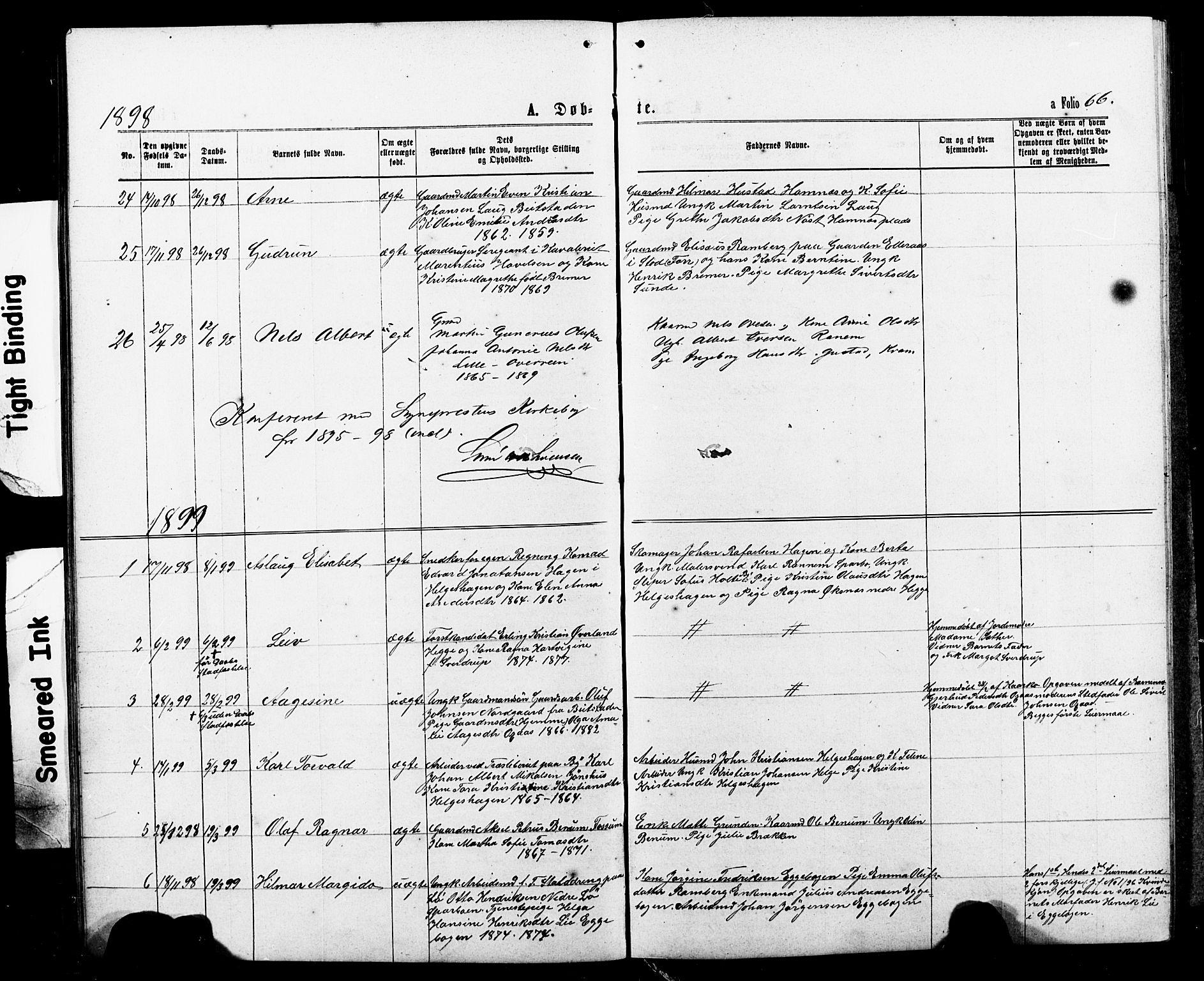 SAT, Ministerialprotokoller, klokkerbøker og fødselsregistre - Nord-Trøndelag, 740/L0380: Klokkerbok nr. 740C01, 1868-1902, s. 66