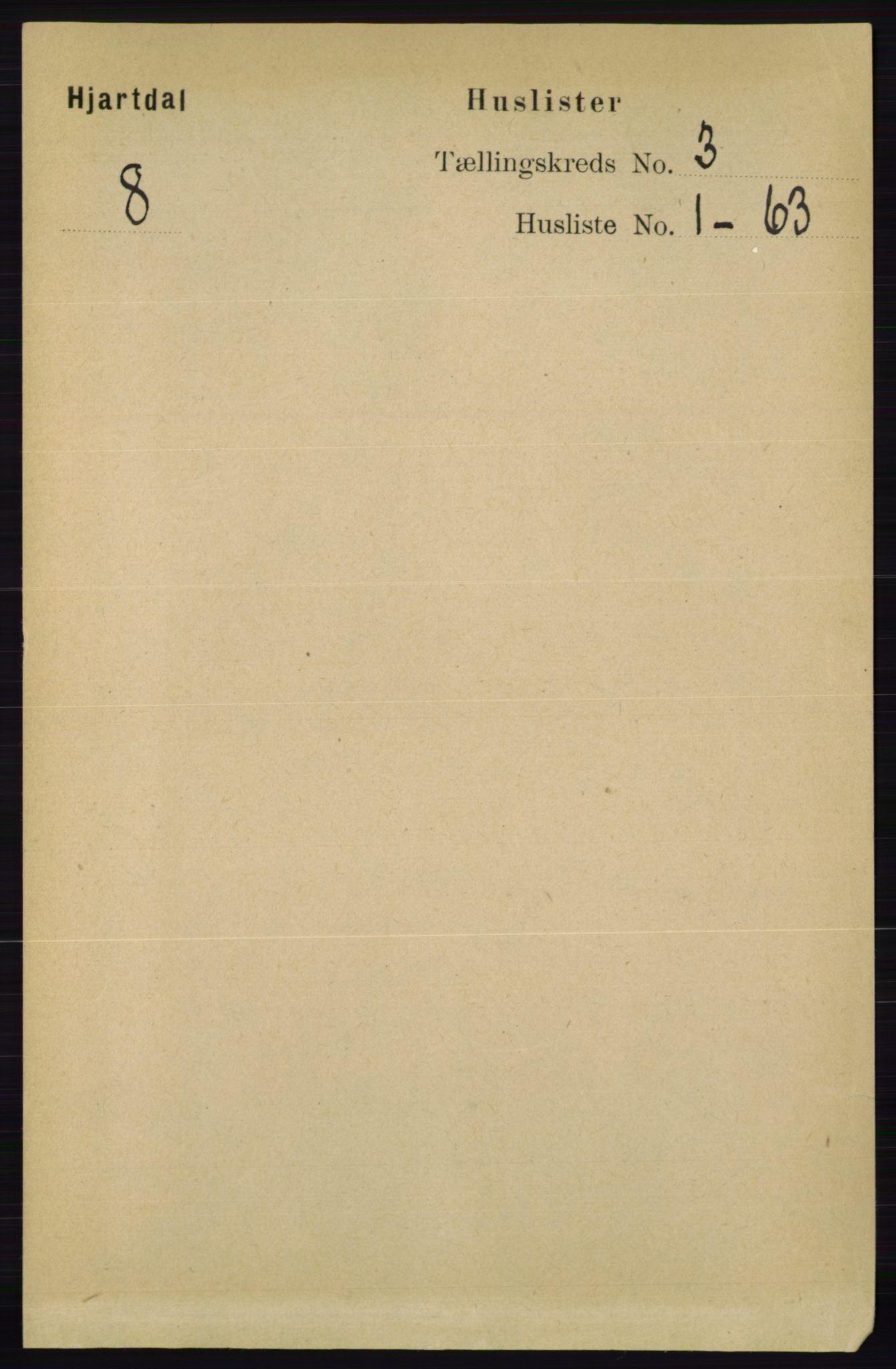 RA, Folketelling 1891 for 0827 Hjartdal herred, 1891, s. 985