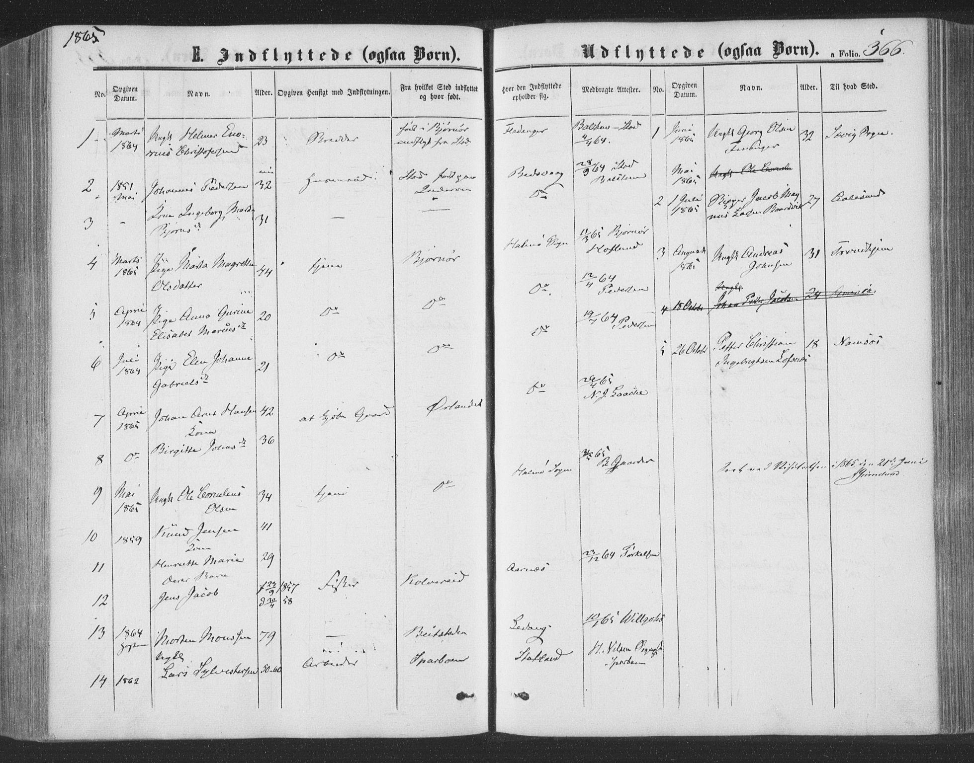 SAT, Ministerialprotokoller, klokkerbøker og fødselsregistre - Nord-Trøndelag, 773/L0615: Ministerialbok nr. 773A06, 1857-1870, s. 366