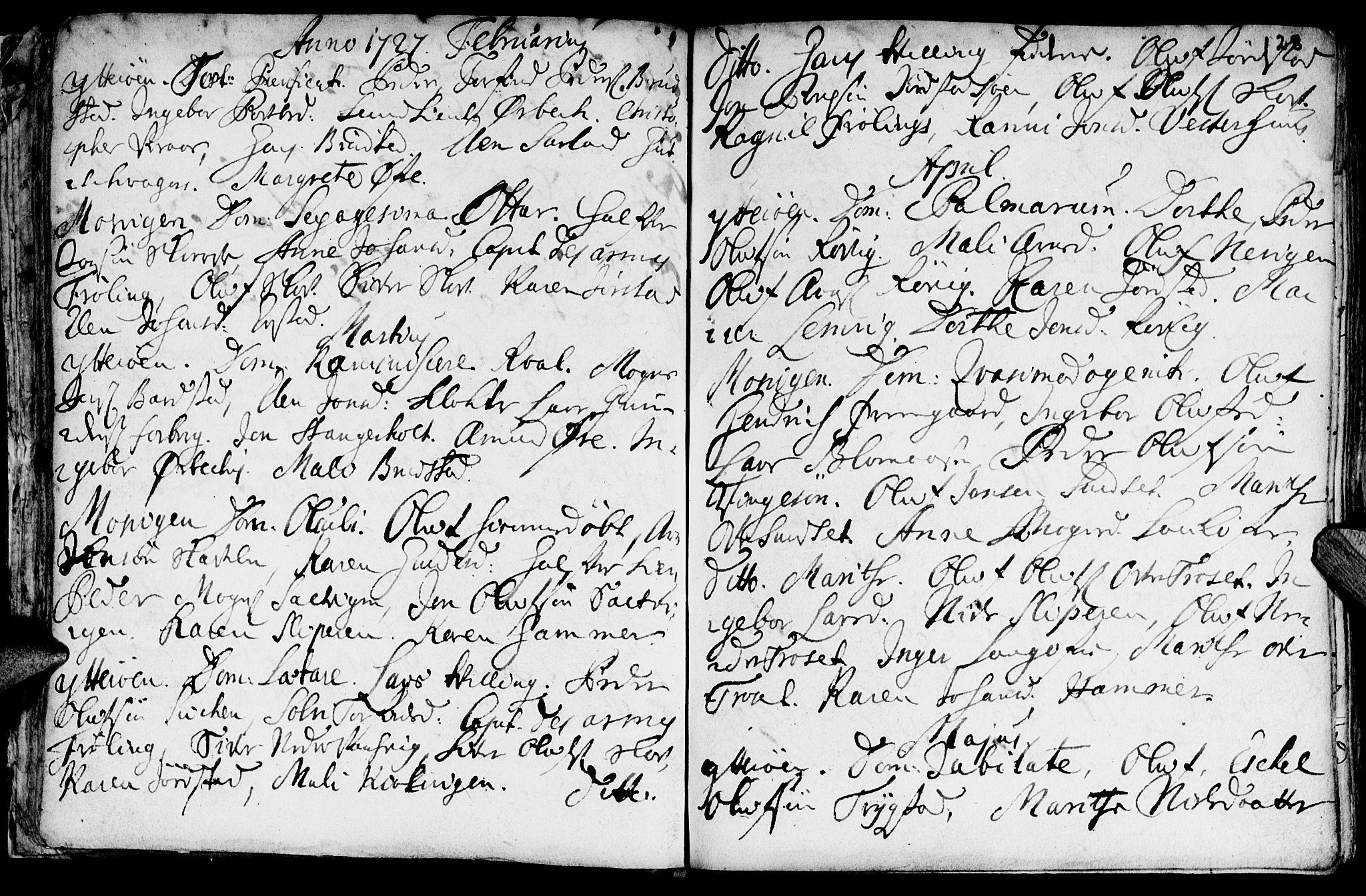 SAT, Ministerialprotokoller, klokkerbøker og fødselsregistre - Nord-Trøndelag, 722/L0215: Ministerialbok nr. 722A02, 1718-1755, s. 28