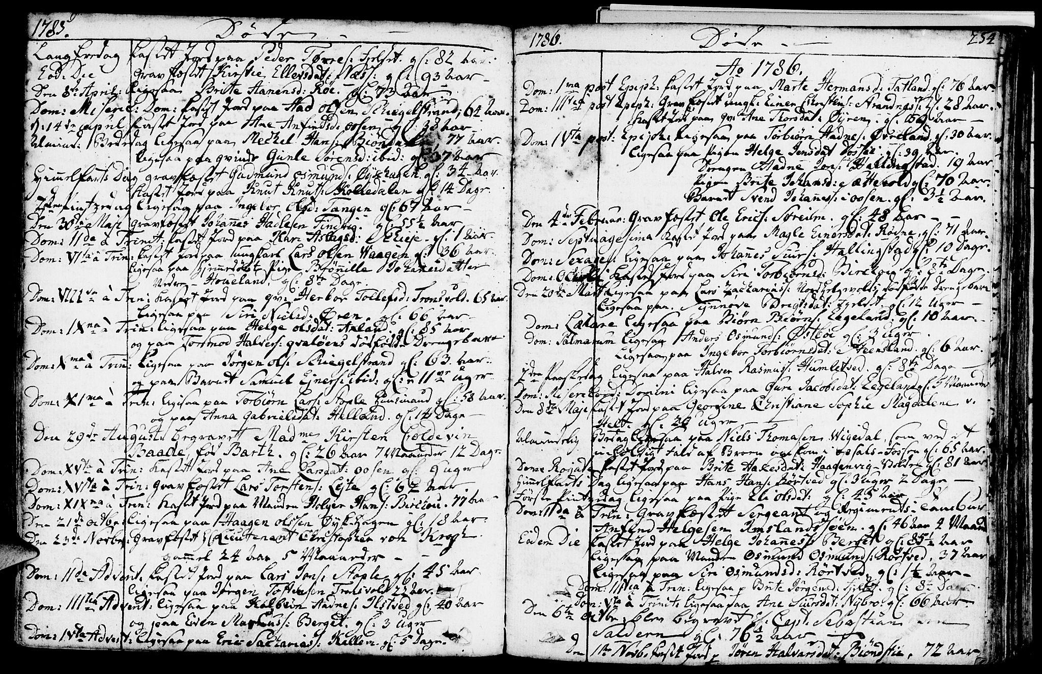 SAST, Vikedal sokneprestkontor, IV: Ministerialbok nr. A 2, 1779-1817, s. 254