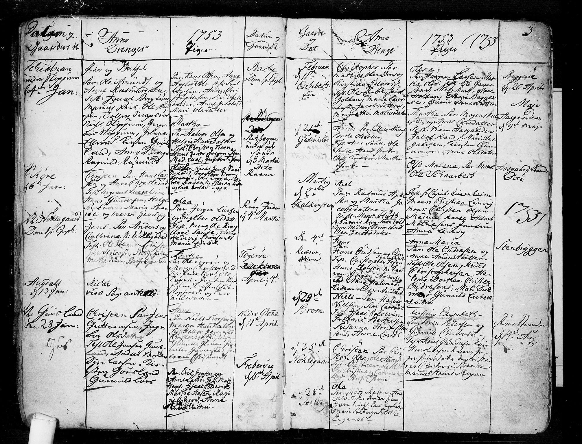 SAKO, Borre kirkebøker, F/Fa/L0002: Ministerialbok nr. I 2, 1752-1806, s. 3