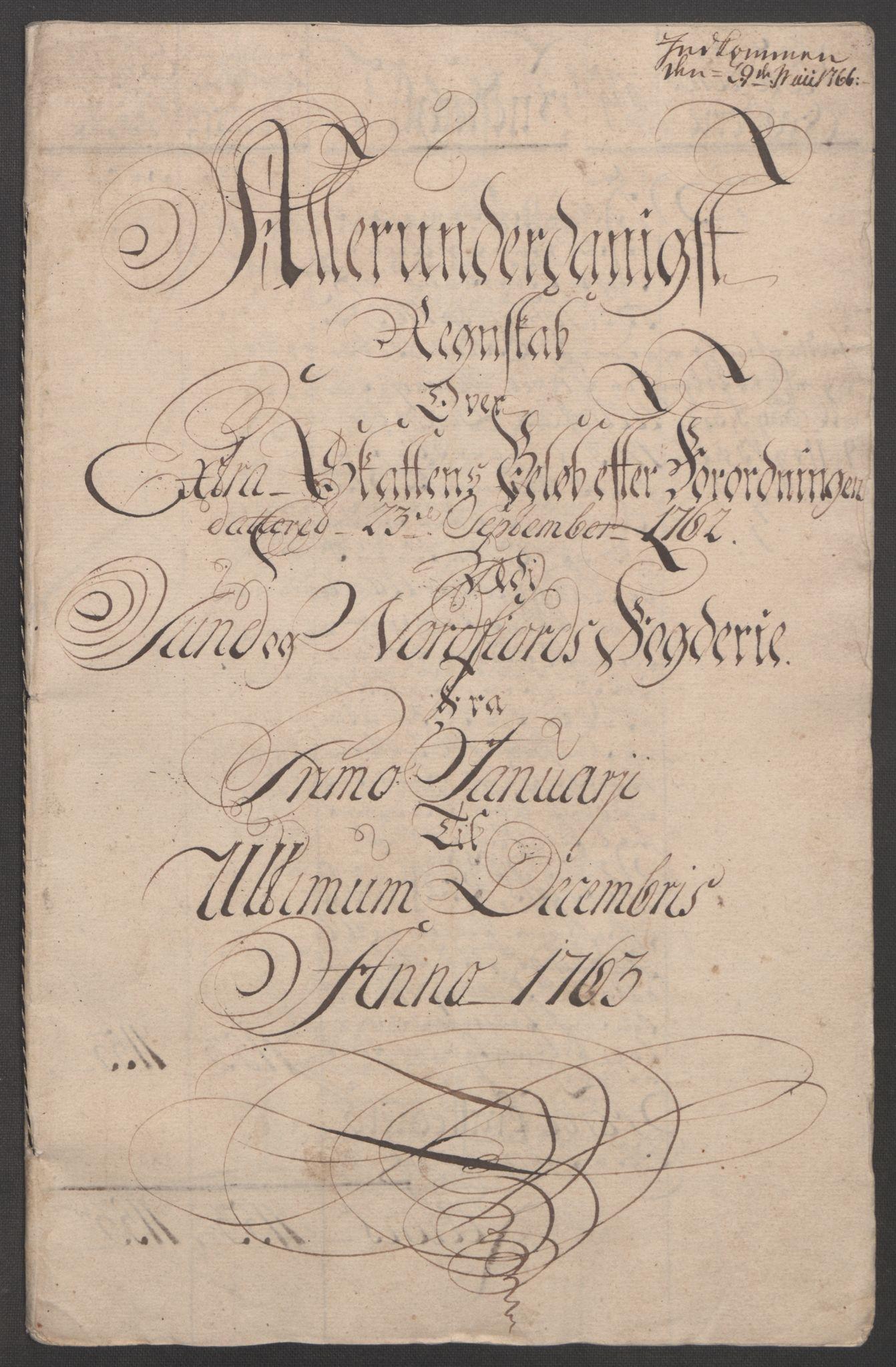 RA, Rentekammeret inntil 1814, Reviderte regnskaper, Fogderegnskap, R53/L3550: Ekstraskatten Sunn- og Nordfjord, 1762-1771, s. 30