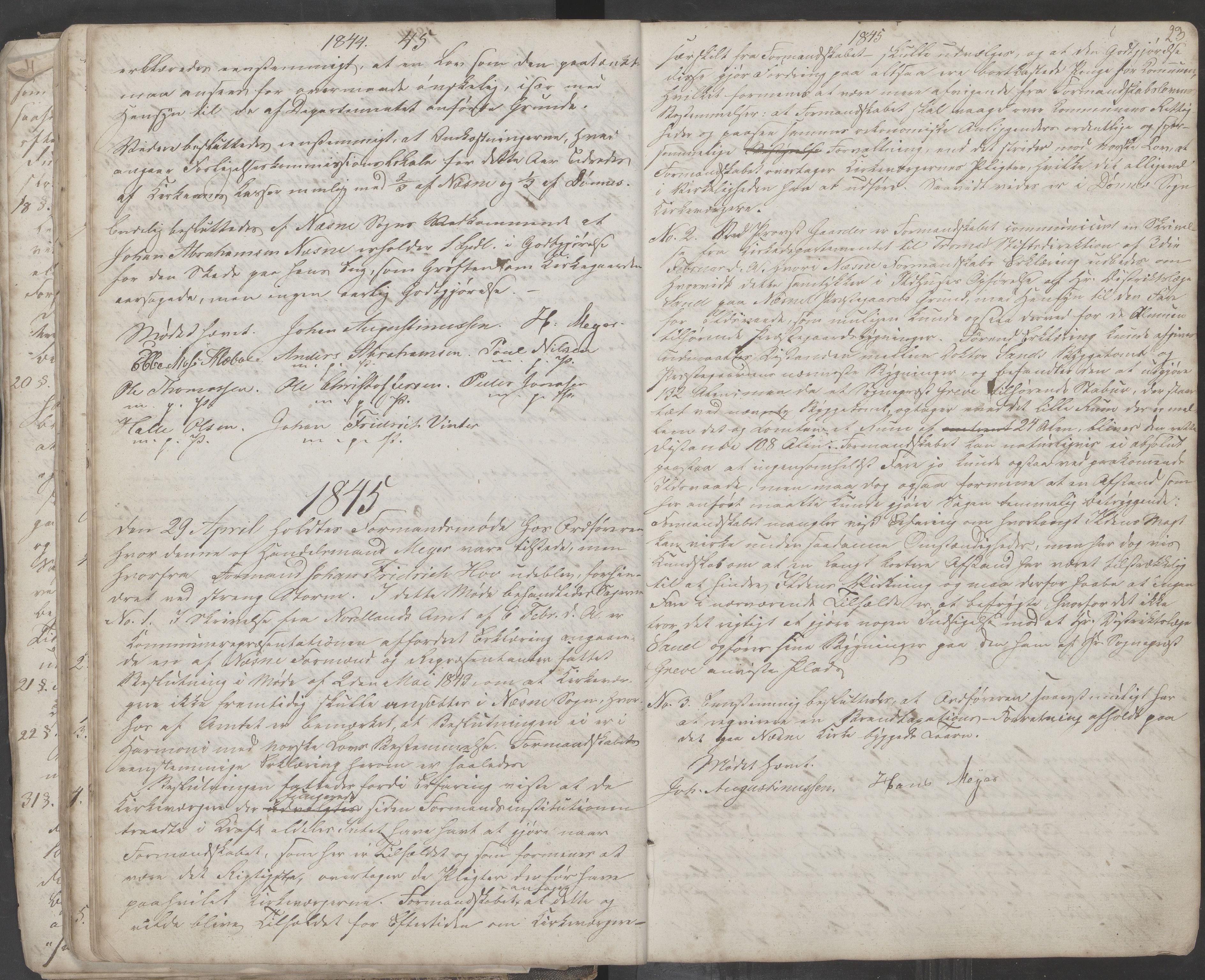 AIN, Nesna kommune. Formannskapet, 100/L0001: Møtebok, 1838-1873, s. 23