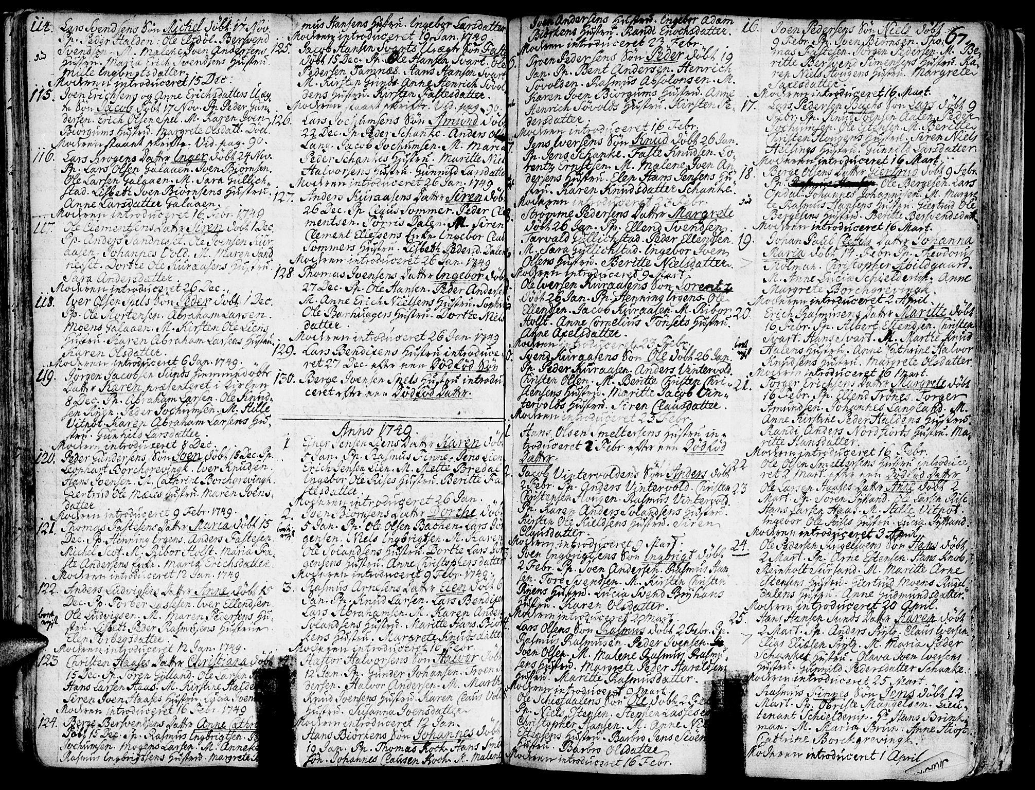 SAT, Ministerialprotokoller, klokkerbøker og fødselsregistre - Sør-Trøndelag, 681/L0925: Ministerialbok nr. 681A03, 1727-1766, s. 67