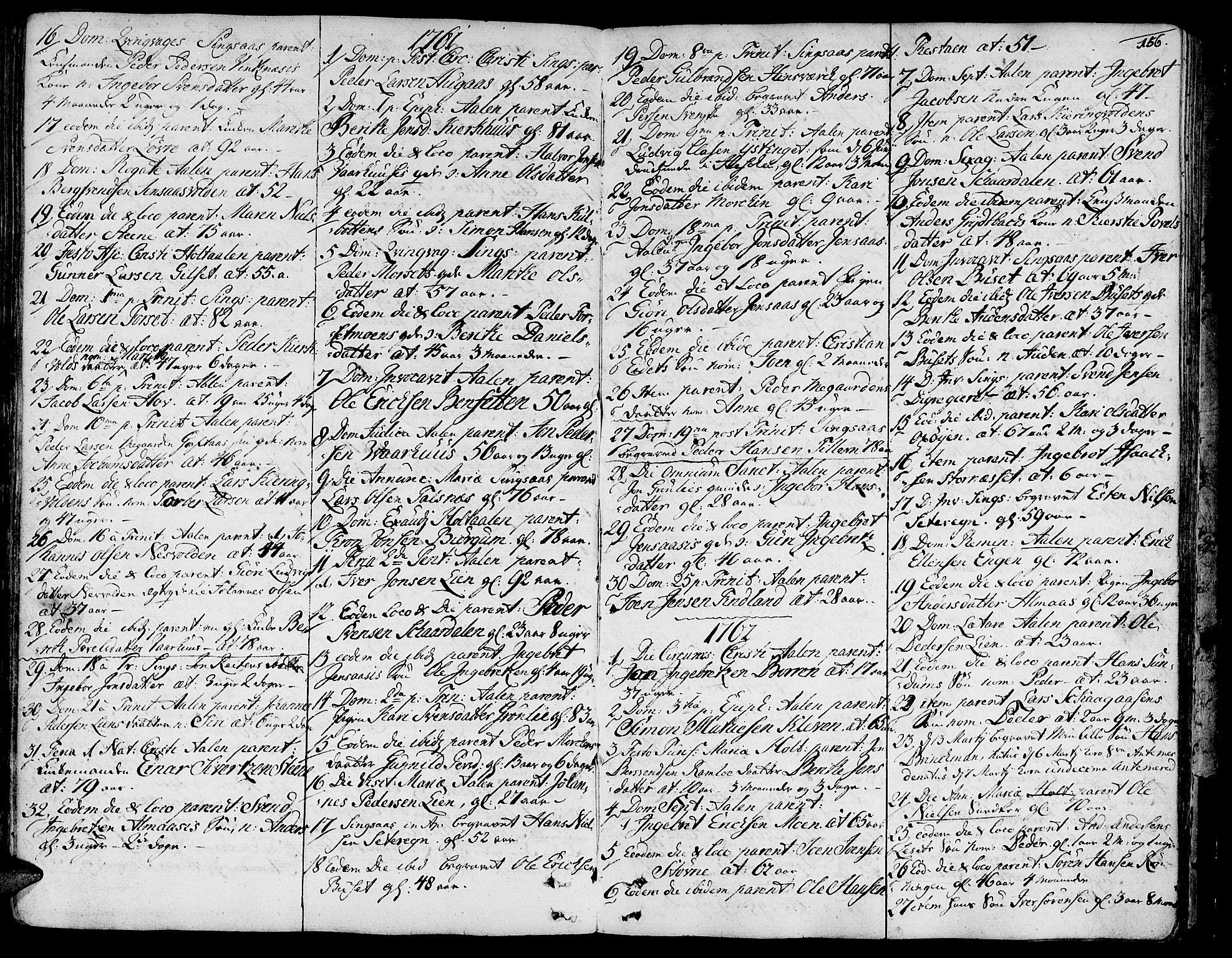 SAT, Ministerialprotokoller, klokkerbøker og fødselsregistre - Sør-Trøndelag, 685/L0952: Ministerialbok nr. 685A01, 1745-1804, s. 156