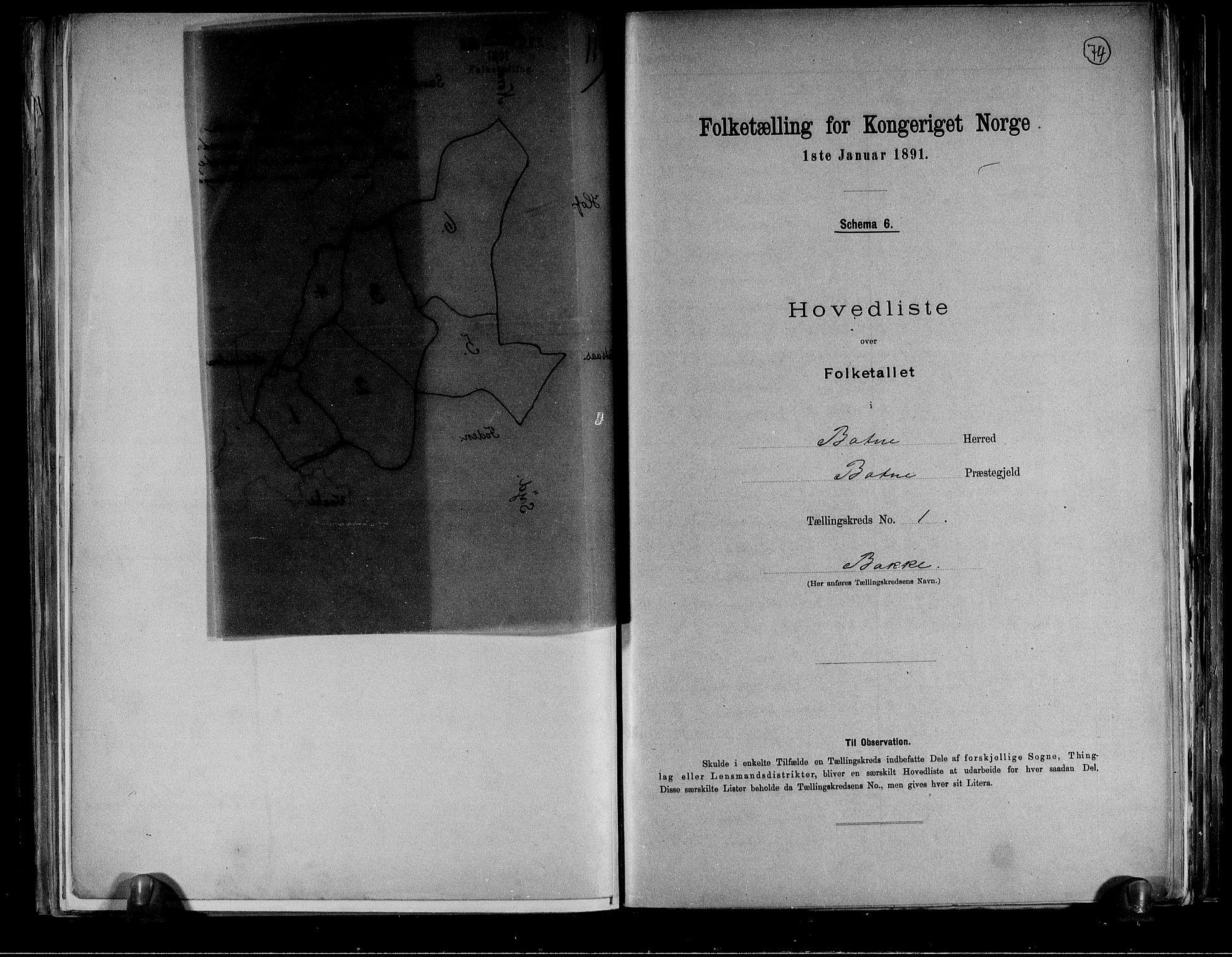RA, Folketelling 1891 for 0715 Botne herred, 1891, s. 5