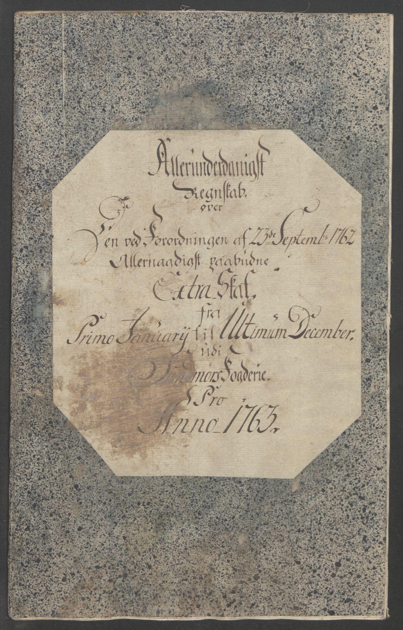 RA, Rentekammeret inntil 1814, Reviderte regnskaper, Fogderegnskap, R54/L3645: Ekstraskatten Sunnmøre, 1762-1772, s. 16