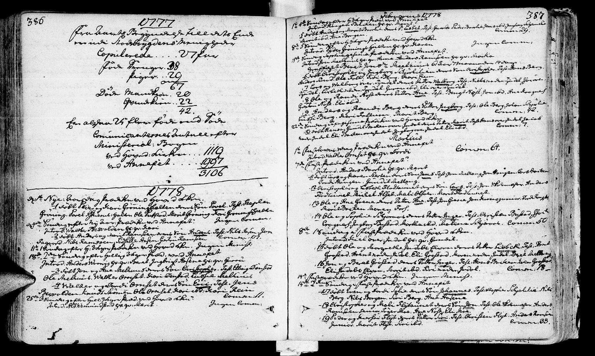 SAT, Ministerialprotokoller, klokkerbøker og fødselsregistre - Sør-Trøndelag, 646/L0605: Ministerialbok nr. 646A03, 1751-1790, s. 386-387