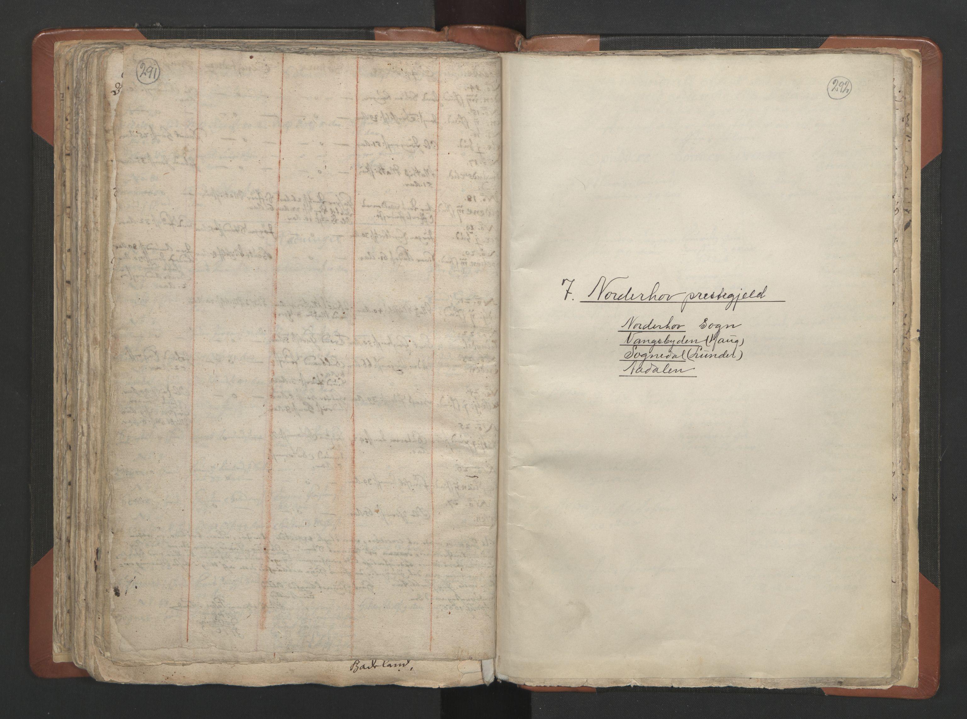 RA, Sogneprestenes manntall 1664-1666, nr. 7: Hadeland prosti, 1664-1666, s. 291-292
