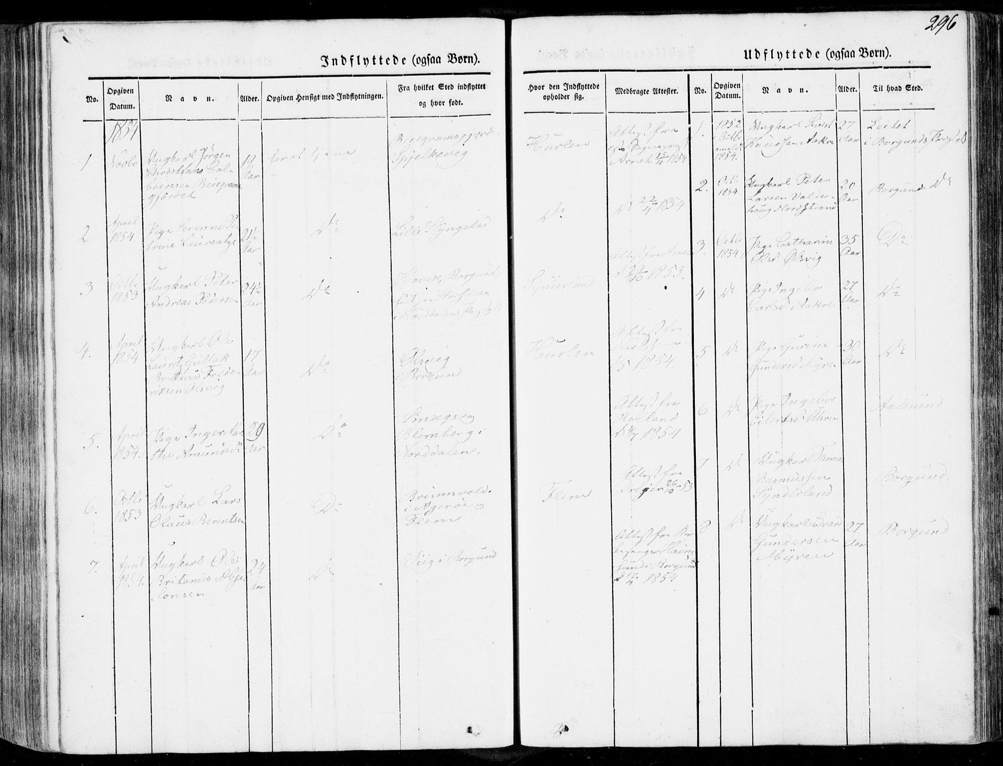 SAT, Ministerialprotokoller, klokkerbøker og fødselsregistre - Møre og Romsdal, 536/L0497: Ministerialbok nr. 536A06, 1845-1865, s. 296