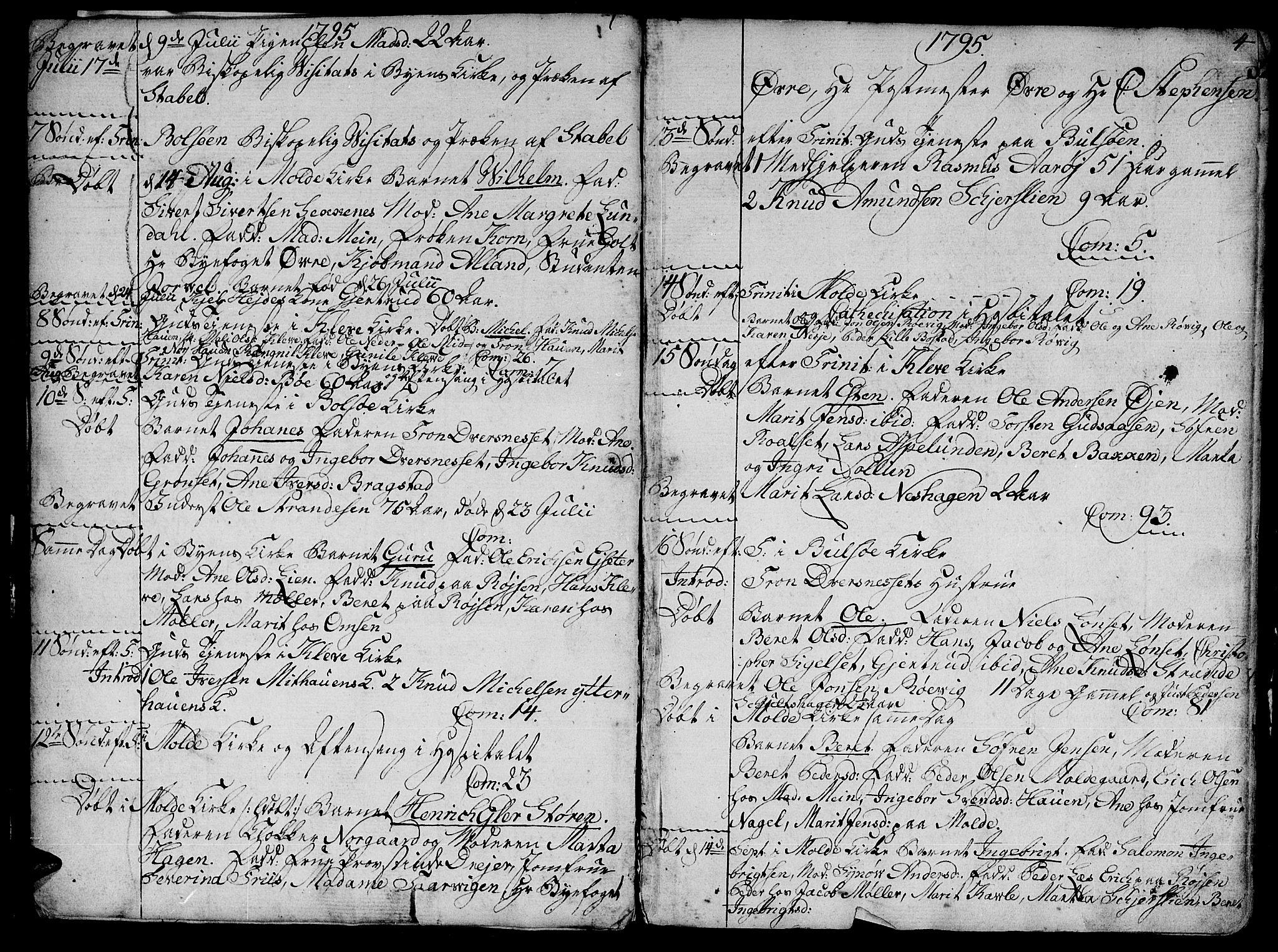 SAT, Ministerialprotokoller, klokkerbøker og fødselsregistre - Møre og Romsdal, 555/L0649: Ministerialbok nr. 555A02 /1, 1795-1821, s. 4