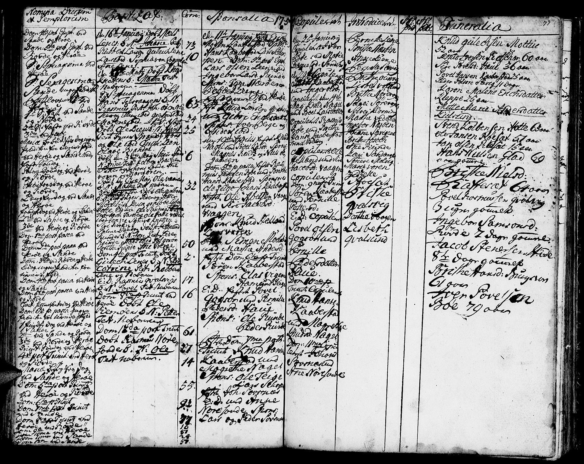 SAT, Ministerialprotokoller, klokkerbøker og fødselsregistre - Møre og Romsdal, 507/L0066: Ministerialbok nr. 507A01, 1731-1766, s. 77