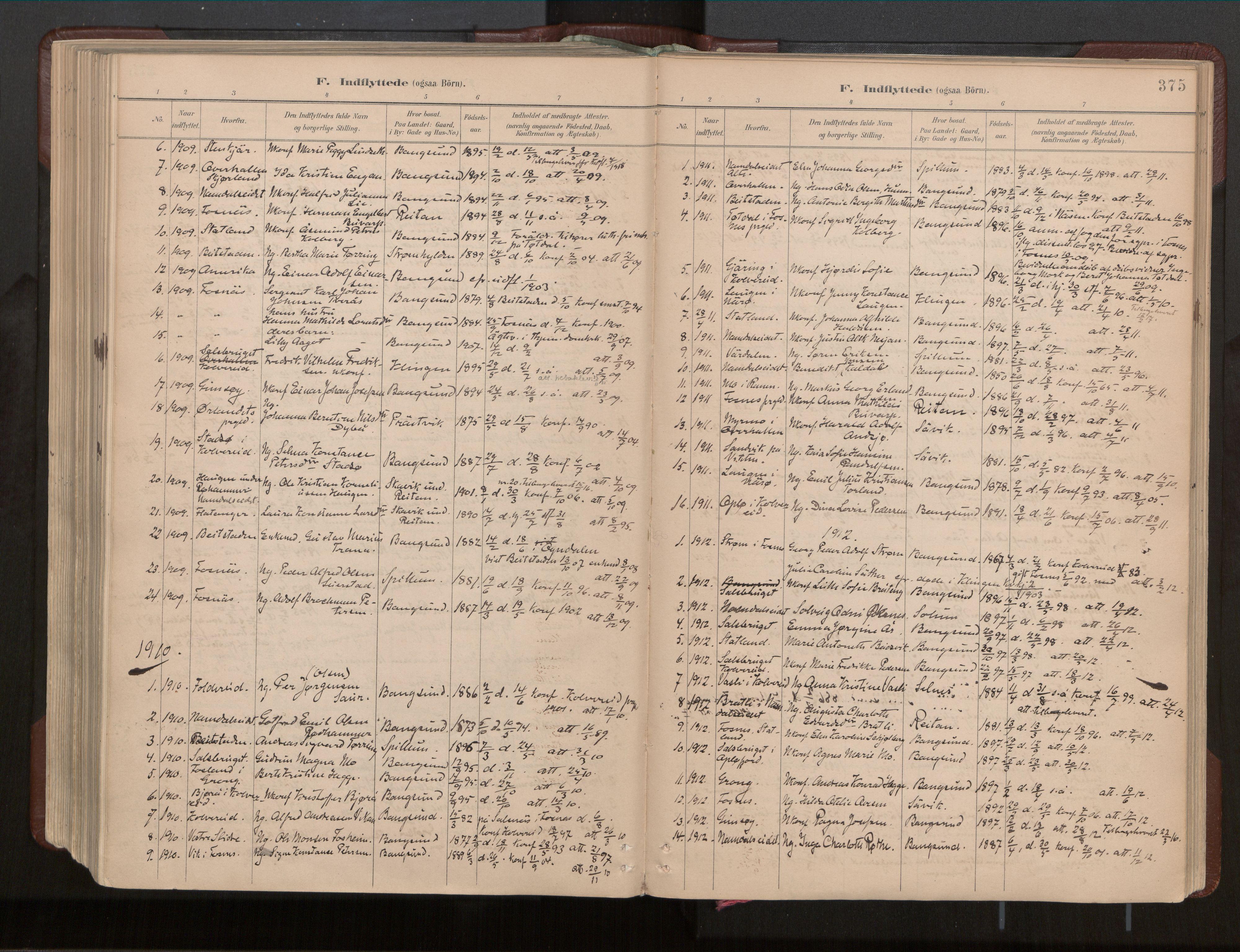 SAT, Ministerialprotokoller, klokkerbøker og fødselsregistre - Nord-Trøndelag, 770/L0589: Ministerialbok nr. 770A03, 1887-1929, s. 375