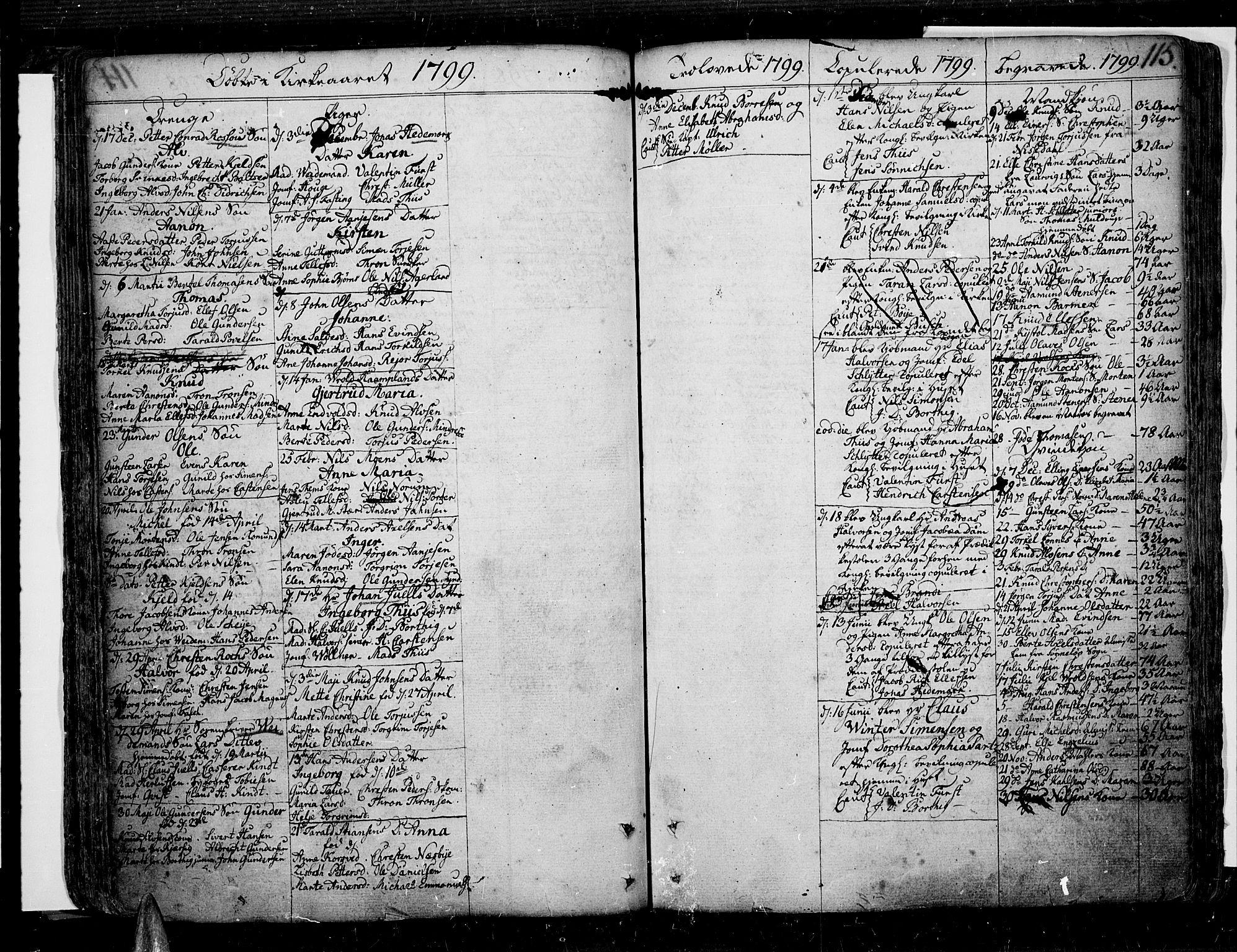 SAK, Risør sokneprestkontor, F/Fb/L0002: Klokkerbok nr. B 2, 1747-1812, s. 115