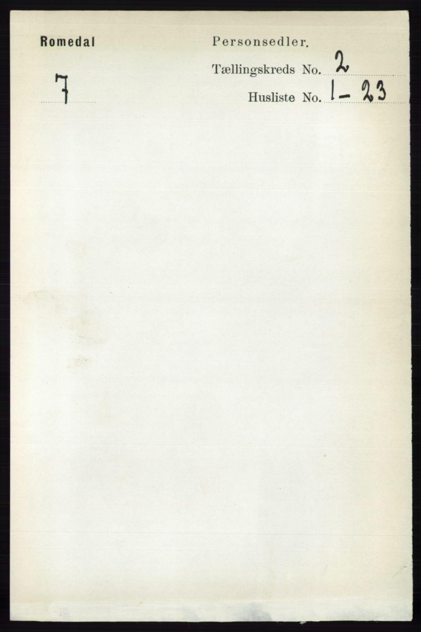 RA, Folketelling 1891 for 0416 Romedal herred, 1891, s. 847