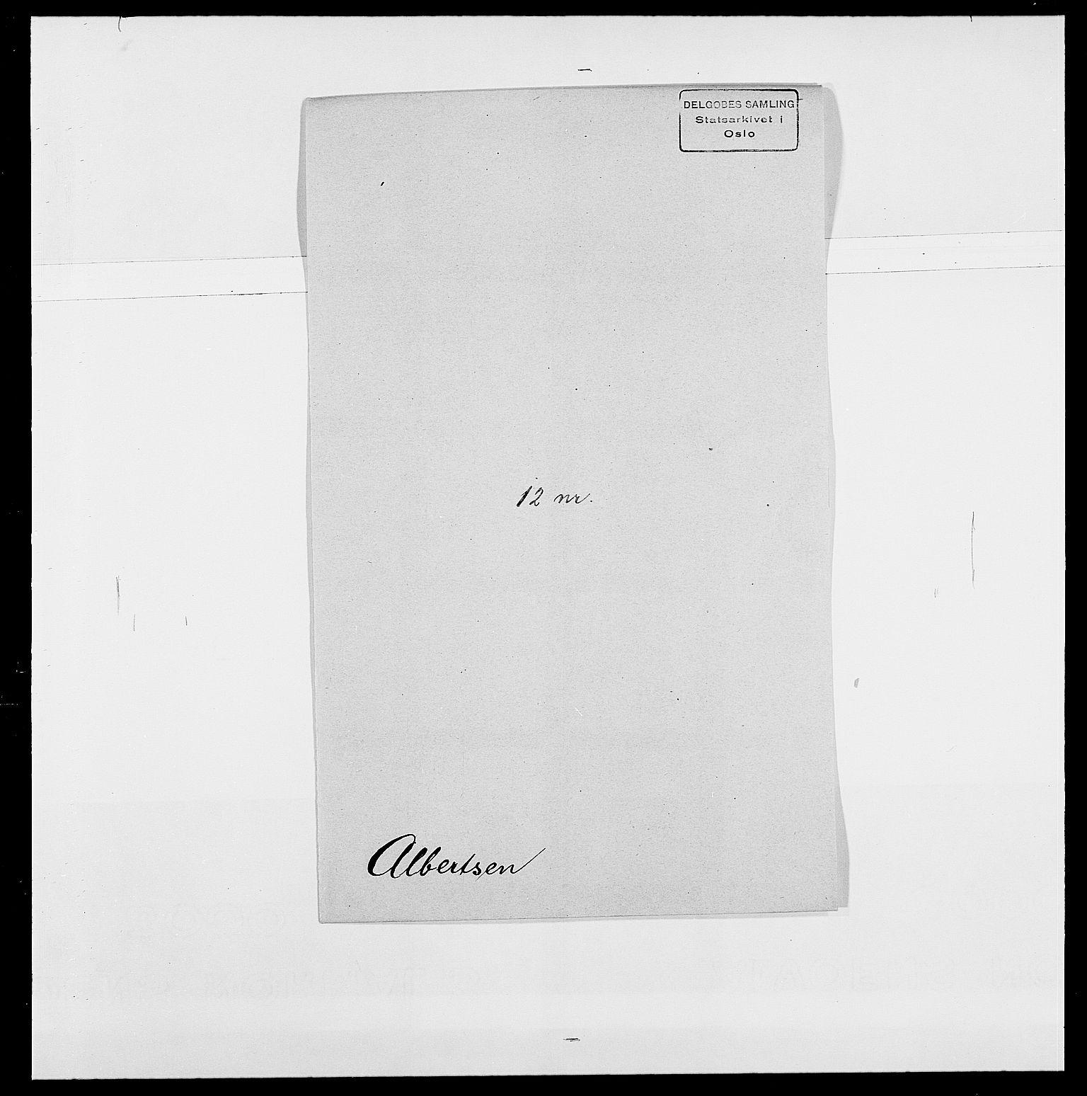 SAO, Delgobe, Charles Antoine - samling, D/Da/L0001: Aabye - Angerman, s. 374