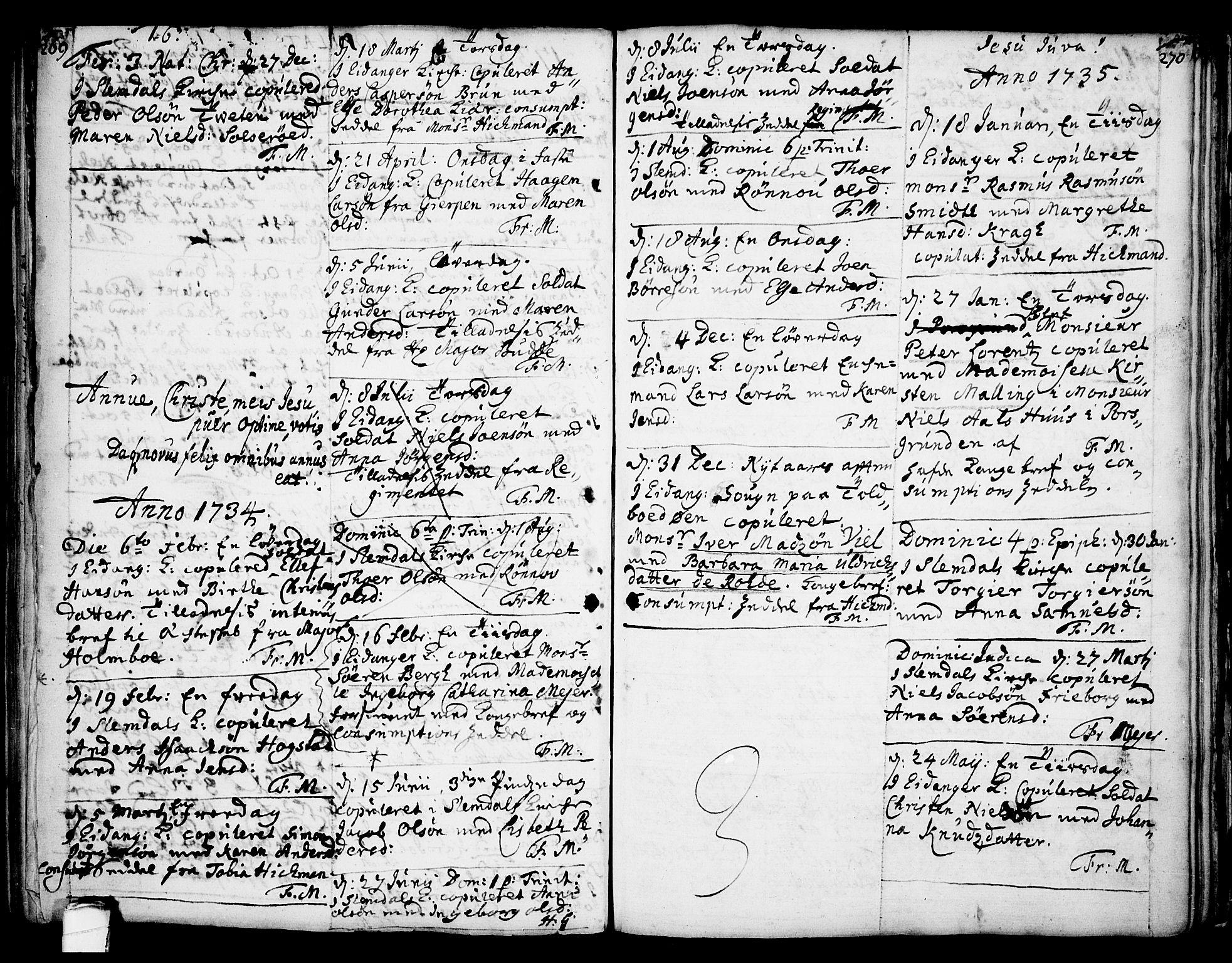 SAKO, Eidanger kirkebøker, F/Fa/L0004: Ministerialbok nr. 4, 1733-1759, s. 269-270