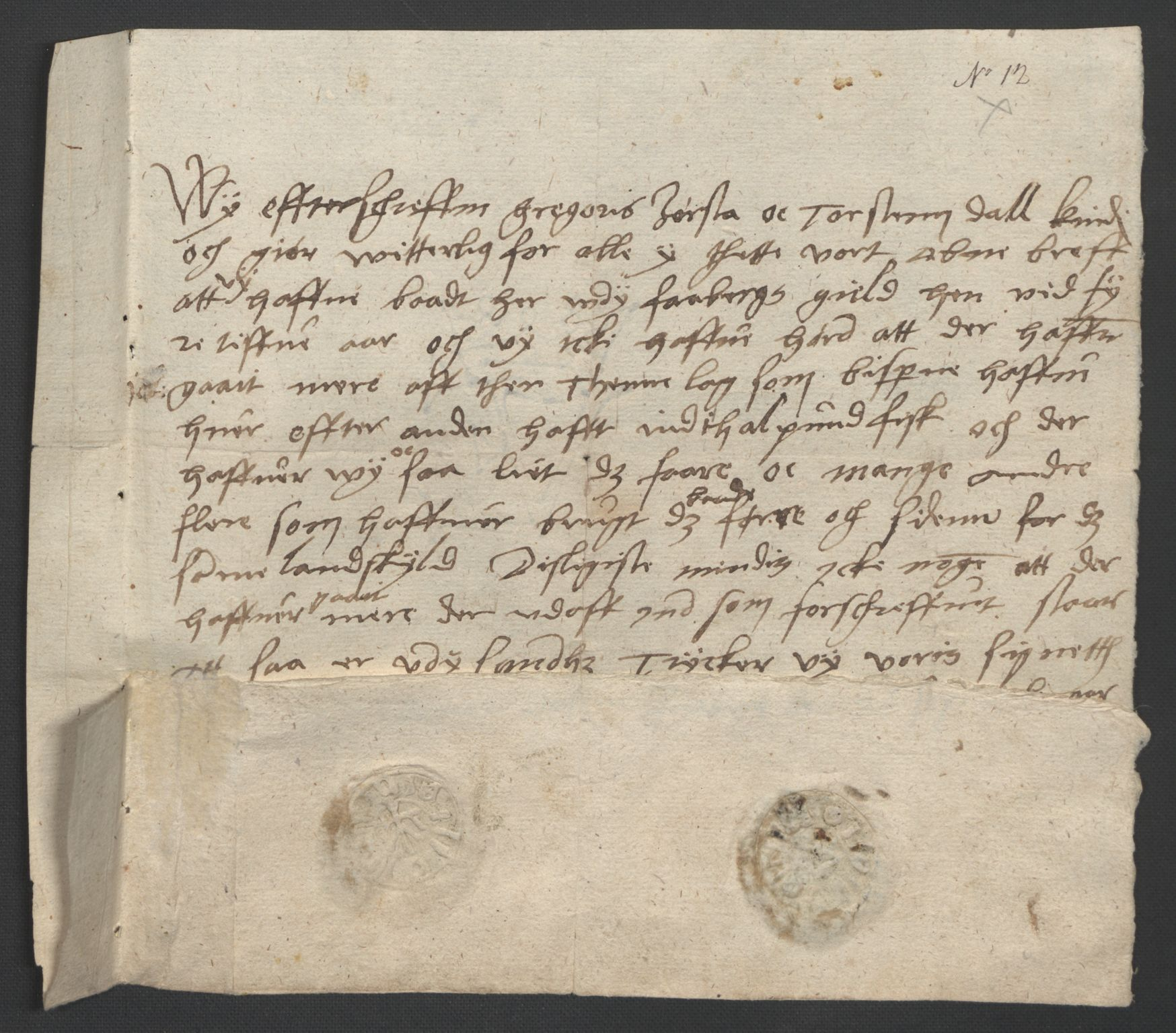 SAO, Oslo stiftsdireksjon, G/Gb/L0001: Bispestolens dokumenter, 1584-1612, s. 12