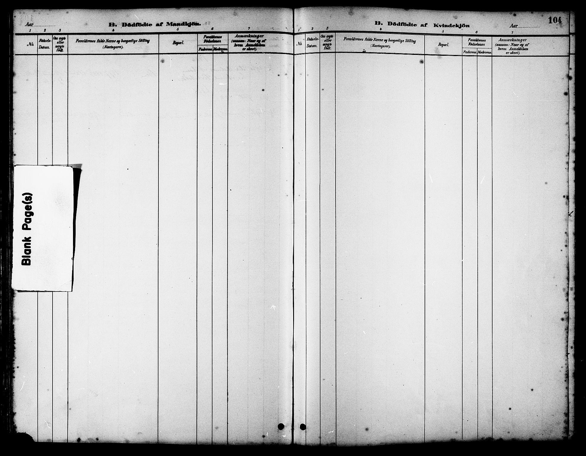 SAT, Ministerialprotokoller, klokkerbøker og fødselsregistre - Sør-Trøndelag, 658/L0726: Klokkerbok nr. 658C02, 1883-1908, s. 104