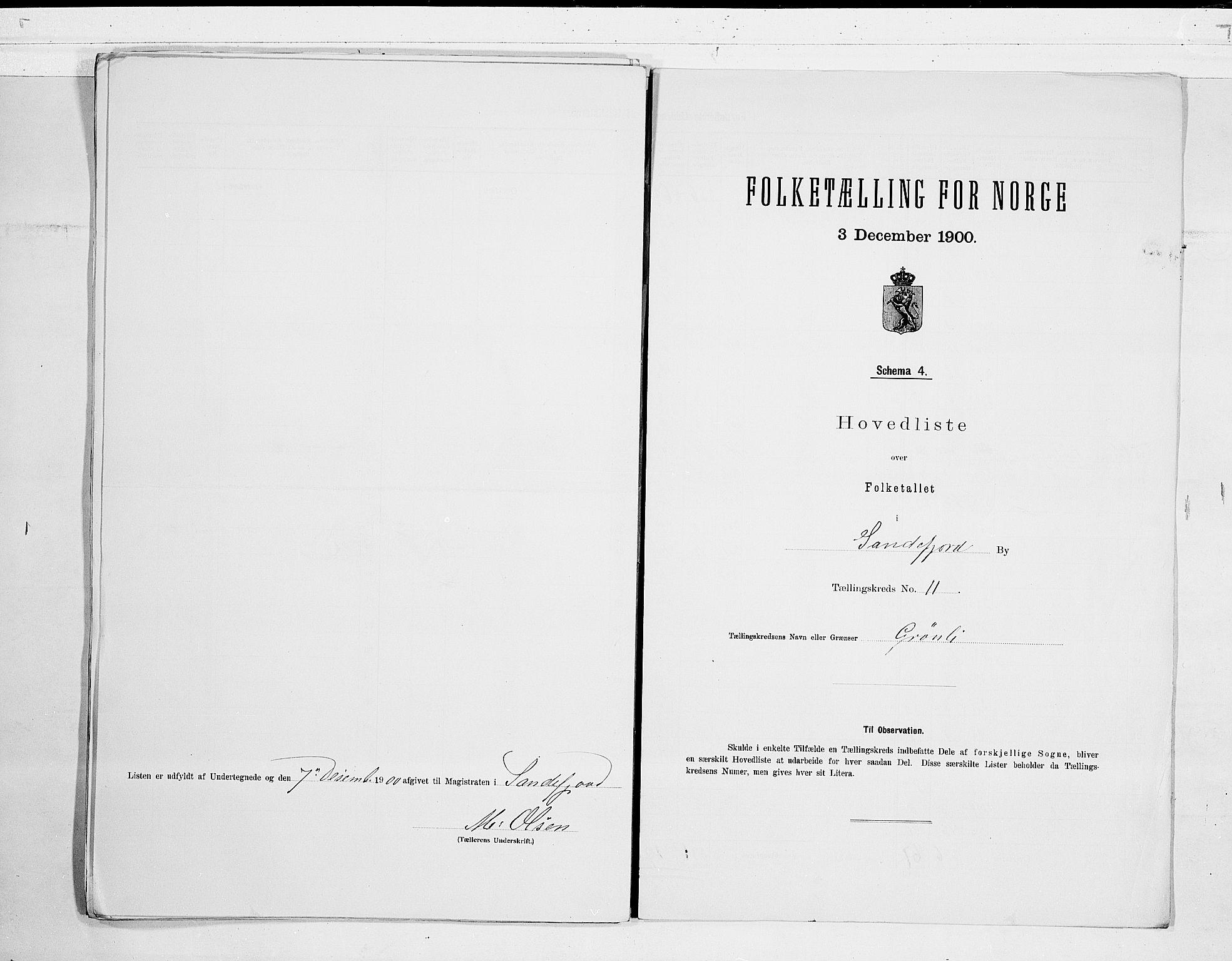 RA, Folketelling 1900 for 0706 Sandefjord kjøpstad, 1900, s. 24