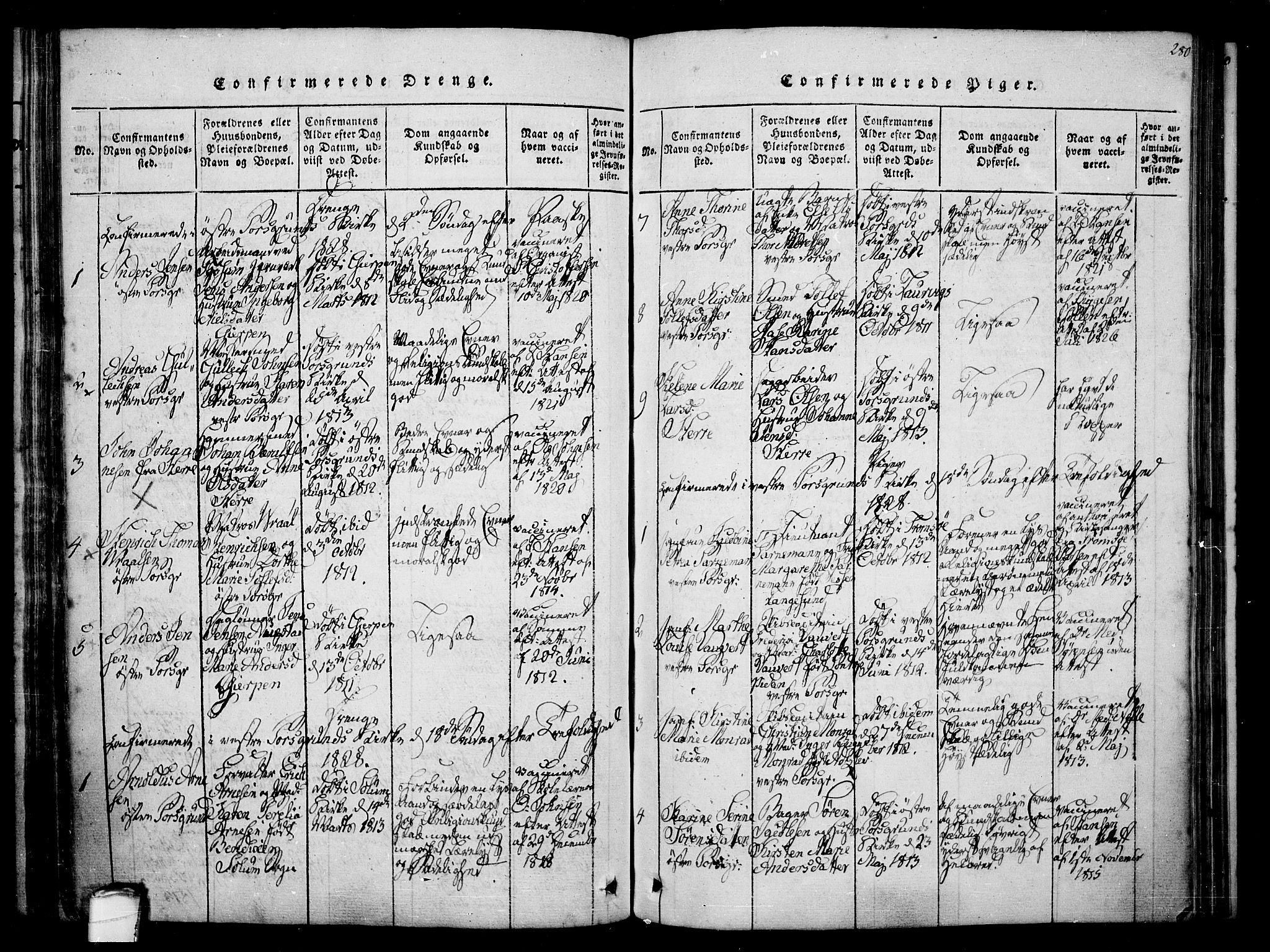 SAKO, Porsgrunn kirkebøker , F/Fa/L0004: Ministerialbok nr. 4, 1814-1828, s. 280