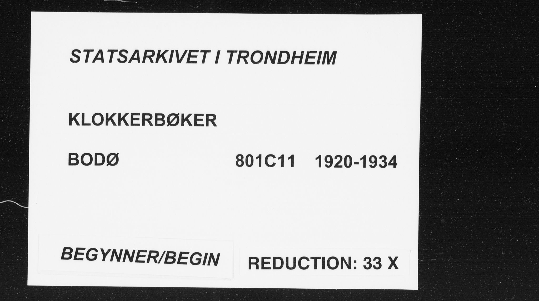 SAT, Ministerialprotokoller, klokkerbøker og fødselsregistre - Nordland, 801/L0036: Klokkerbok nr. 801C11, 1920-1934
