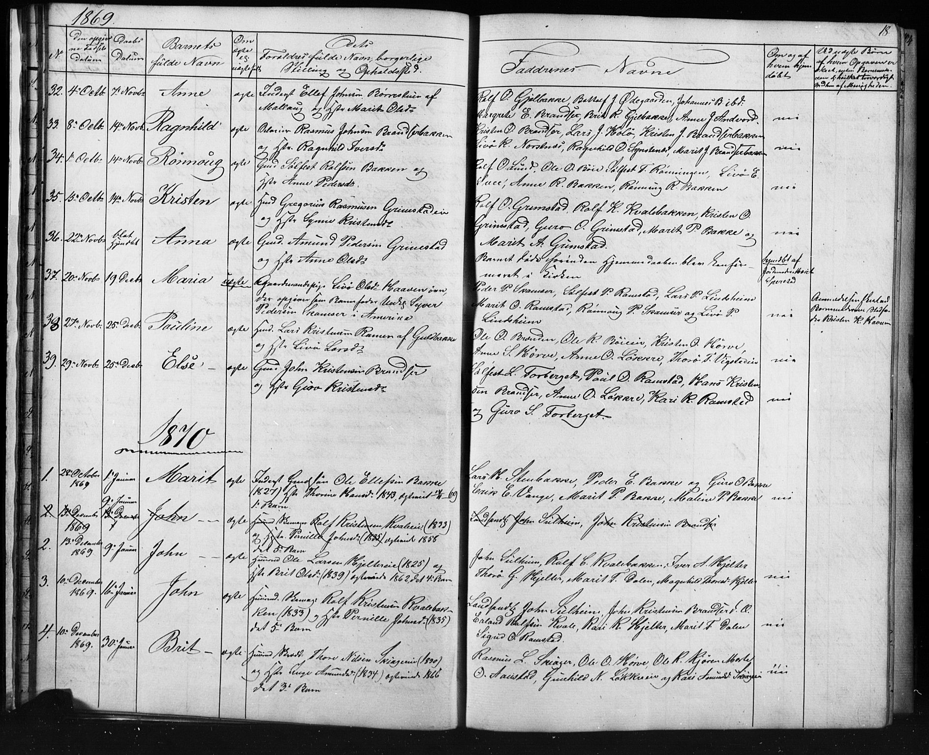 SAH, Skjåk prestekontor, Klokkerbok nr. 1, 1865-1893, s. 18