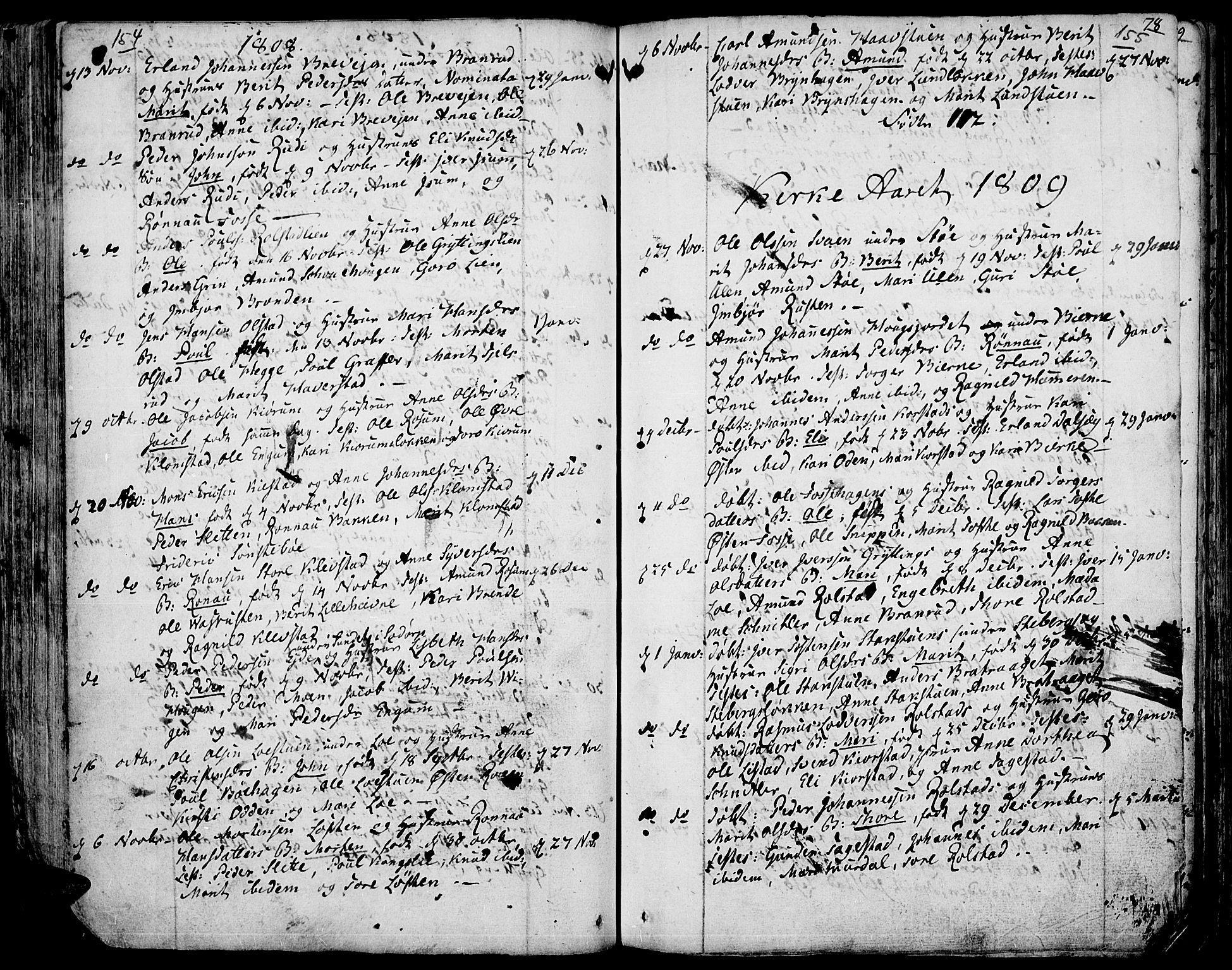 SAH, Fron prestekontor, H/Ha/Haa/L0001: Ministerialbok nr. 1, 1799-1816, s. 154-155