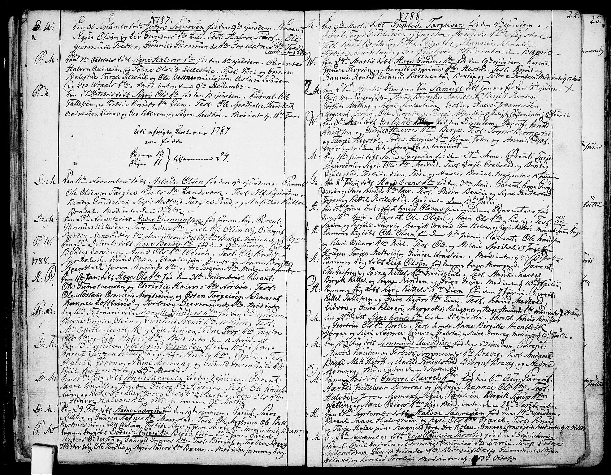 SAKO, Fyresdal kirkebøker, F/Fa/L0002: Ministerialbok nr. I 2, 1769-1814, s. 24