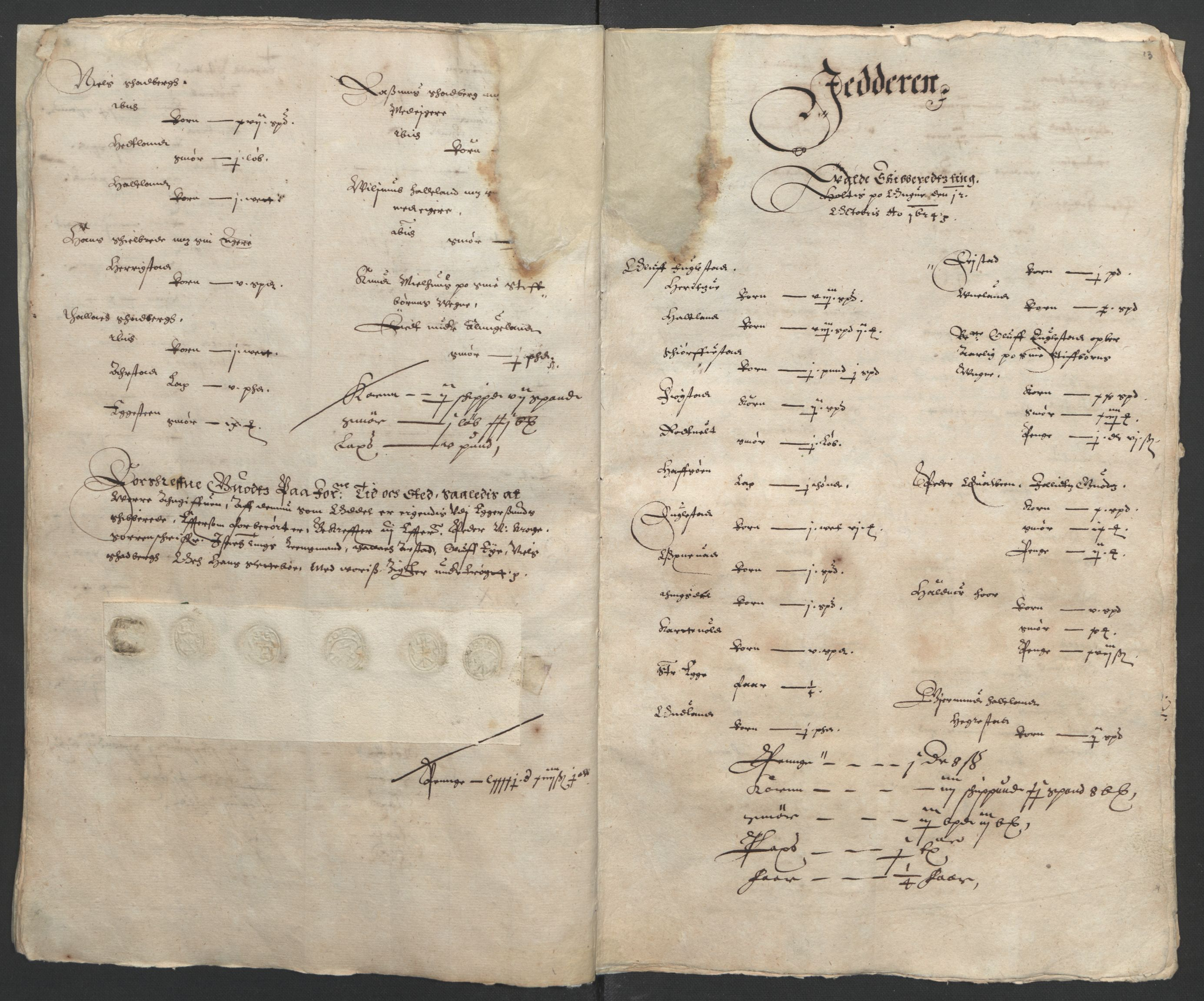 RA, Stattholderembetet 1572-1771, Ek/L0010: Jordebøker til utlikning av rosstjeneste 1624-1626:, 1624-1626, s. 47