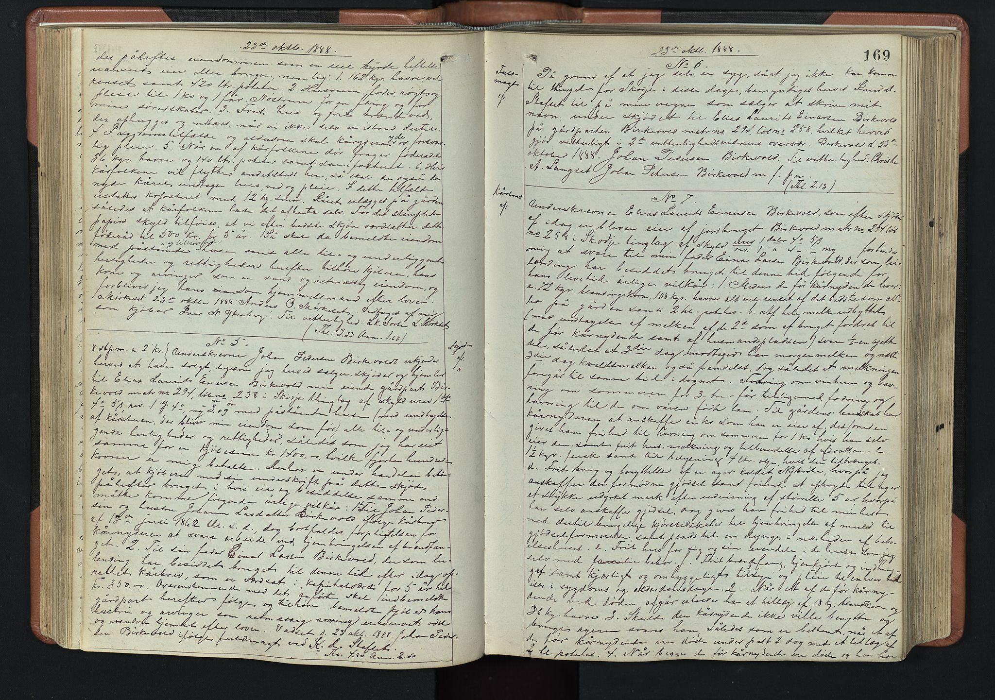 SAT, Nordre Sunnmøre sorenskriveri, 2/2C/2Ca/L0019: Pantebok nr. 21, 1887-1891, s. 169