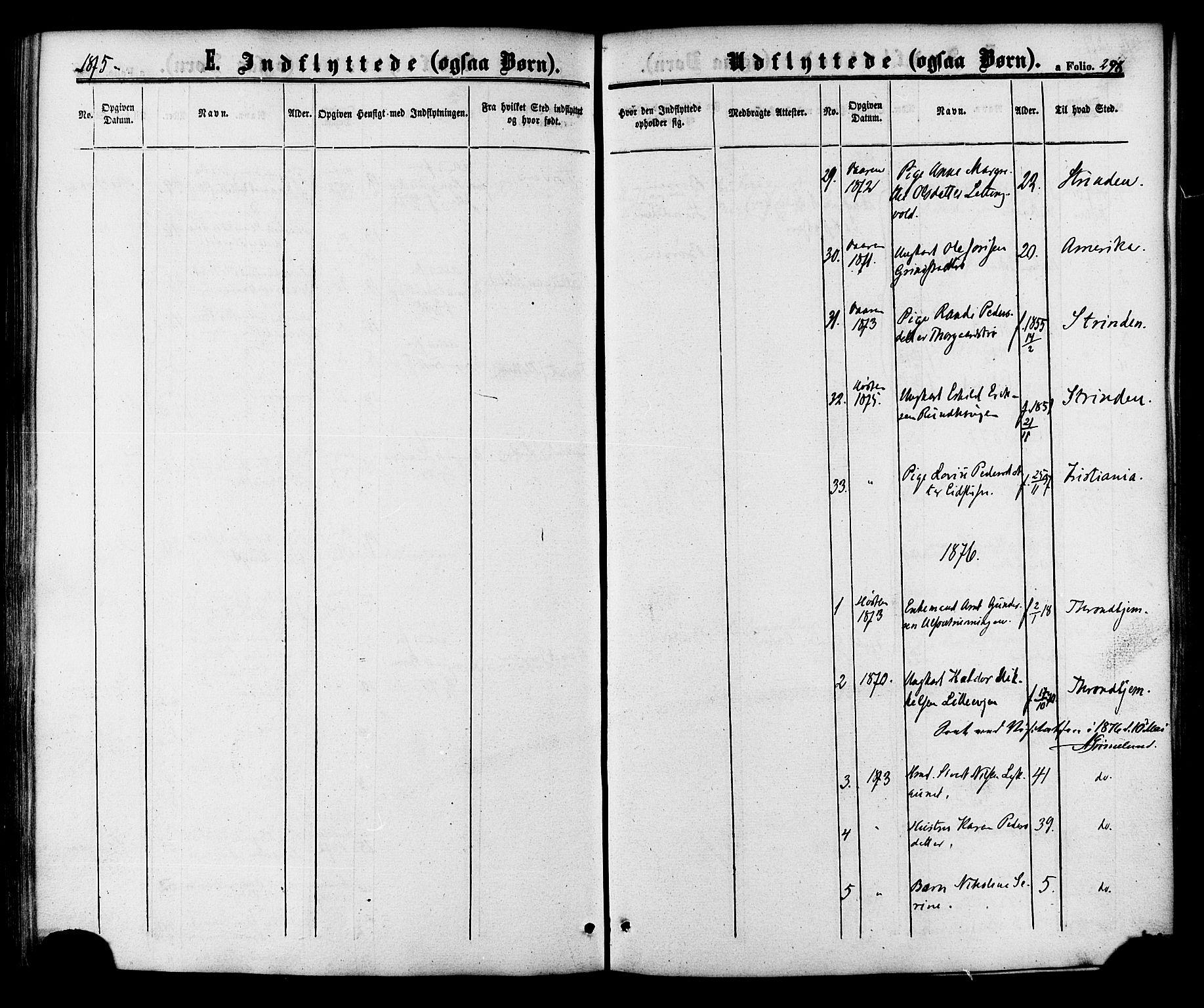 SAT, Ministerialprotokoller, klokkerbøker og fødselsregistre - Sør-Trøndelag, 618/L0442: Ministerialbok nr. 618A06 /1, 1863-1879, s. 298
